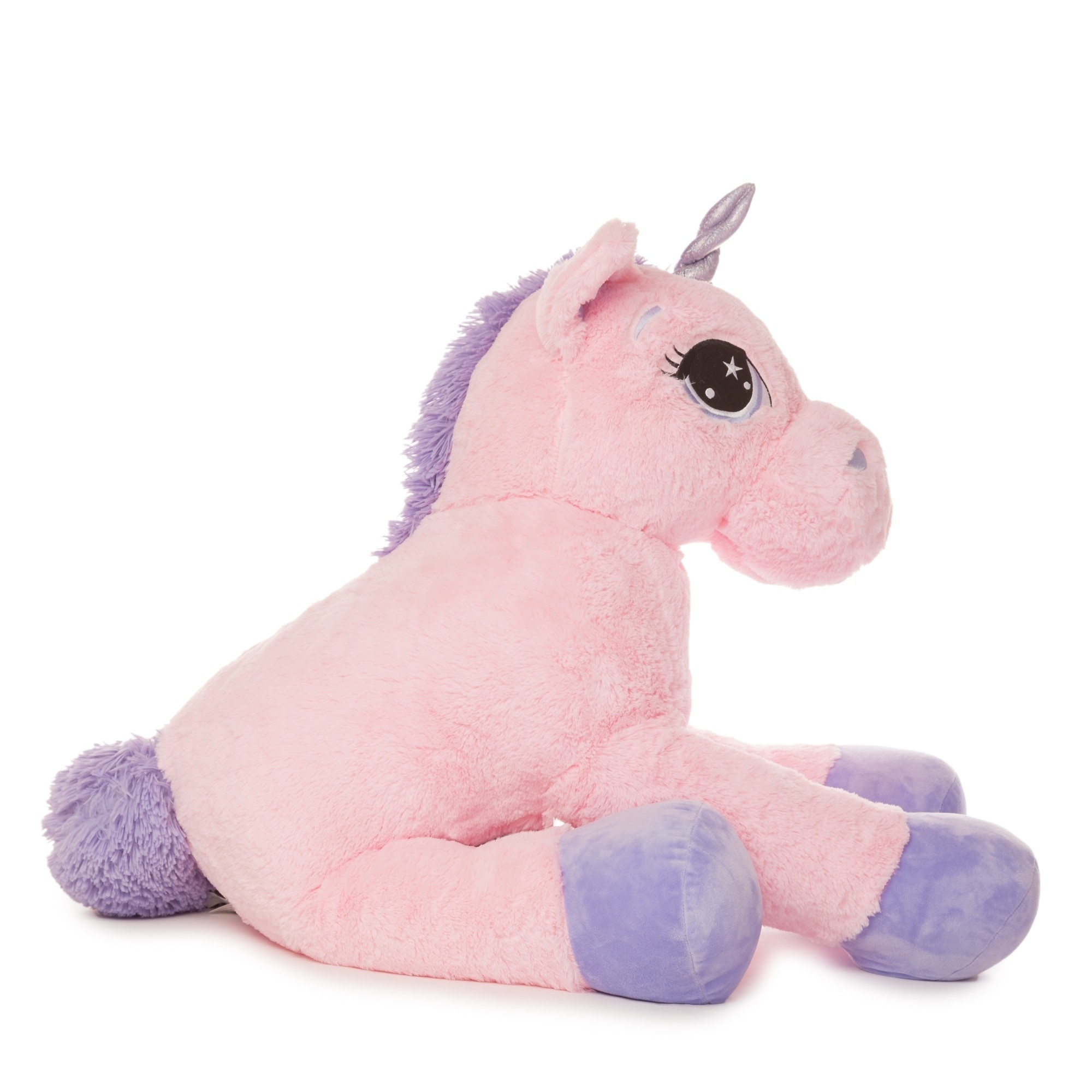 d85ef60b449d Shop Best Made Toys Jumbo Unicorn Giant Plush Animal - Over 4 feet long! -  Free Shipping Today - Overstock - 18118010