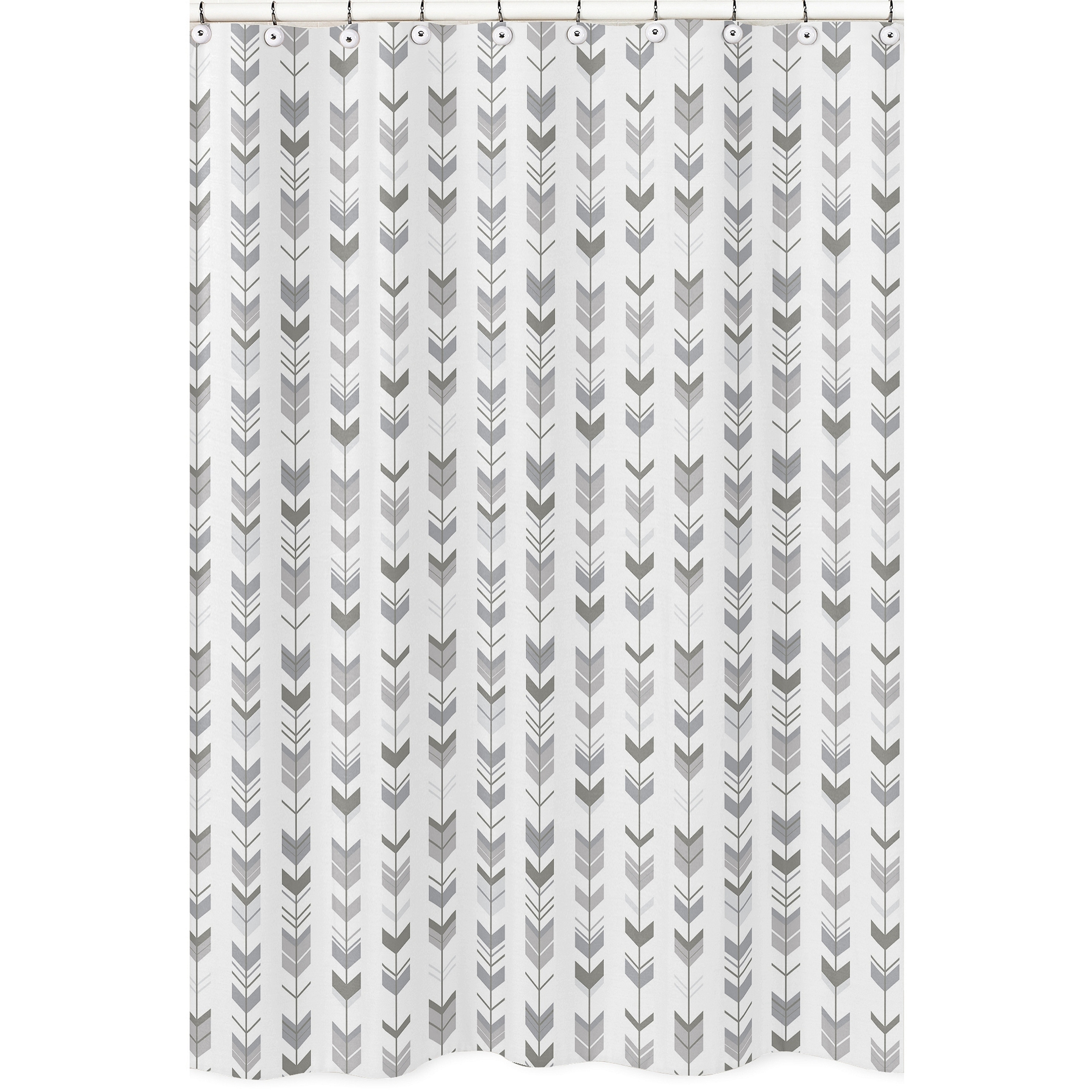 Shop Sweet Jojo Designs Shower Curtain For The Grey And White Mod Arrow Collection