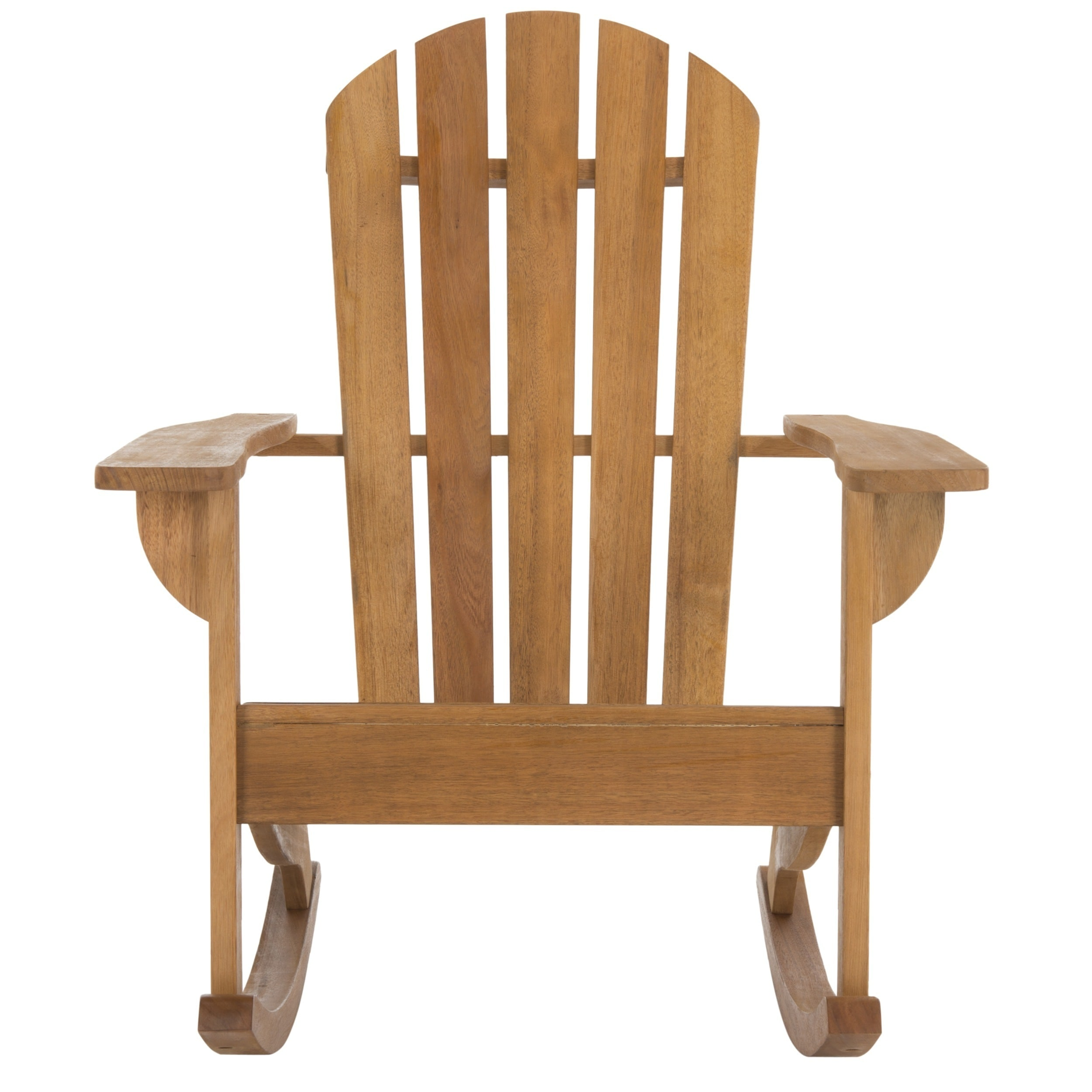 Safavieh Brizio Adirondack Teak Colored Rocking Chair   Free Shipping Today    Overstock   24272785