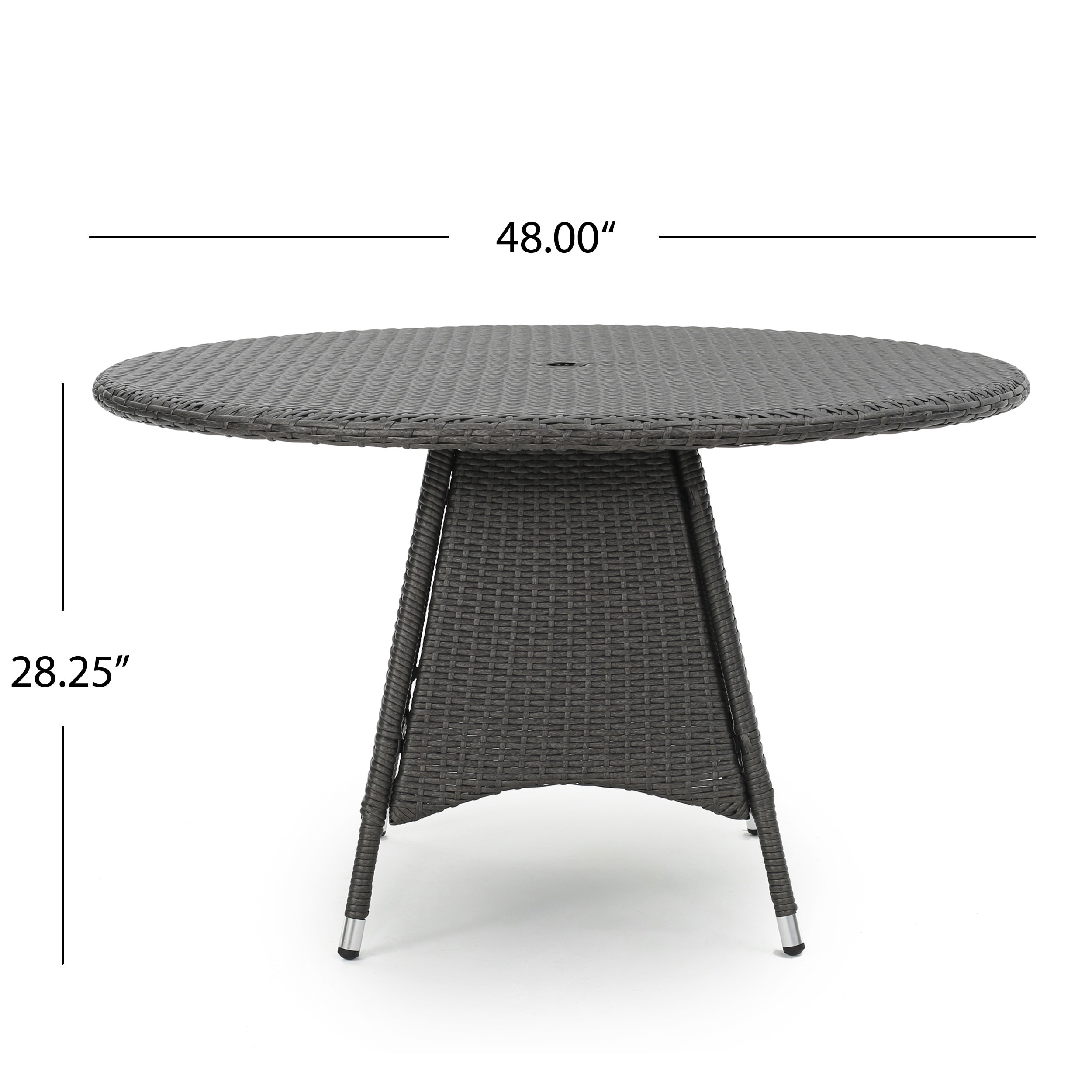 Franco Outdoor 5-piece Round Wicker Dining Set with Cushions ...