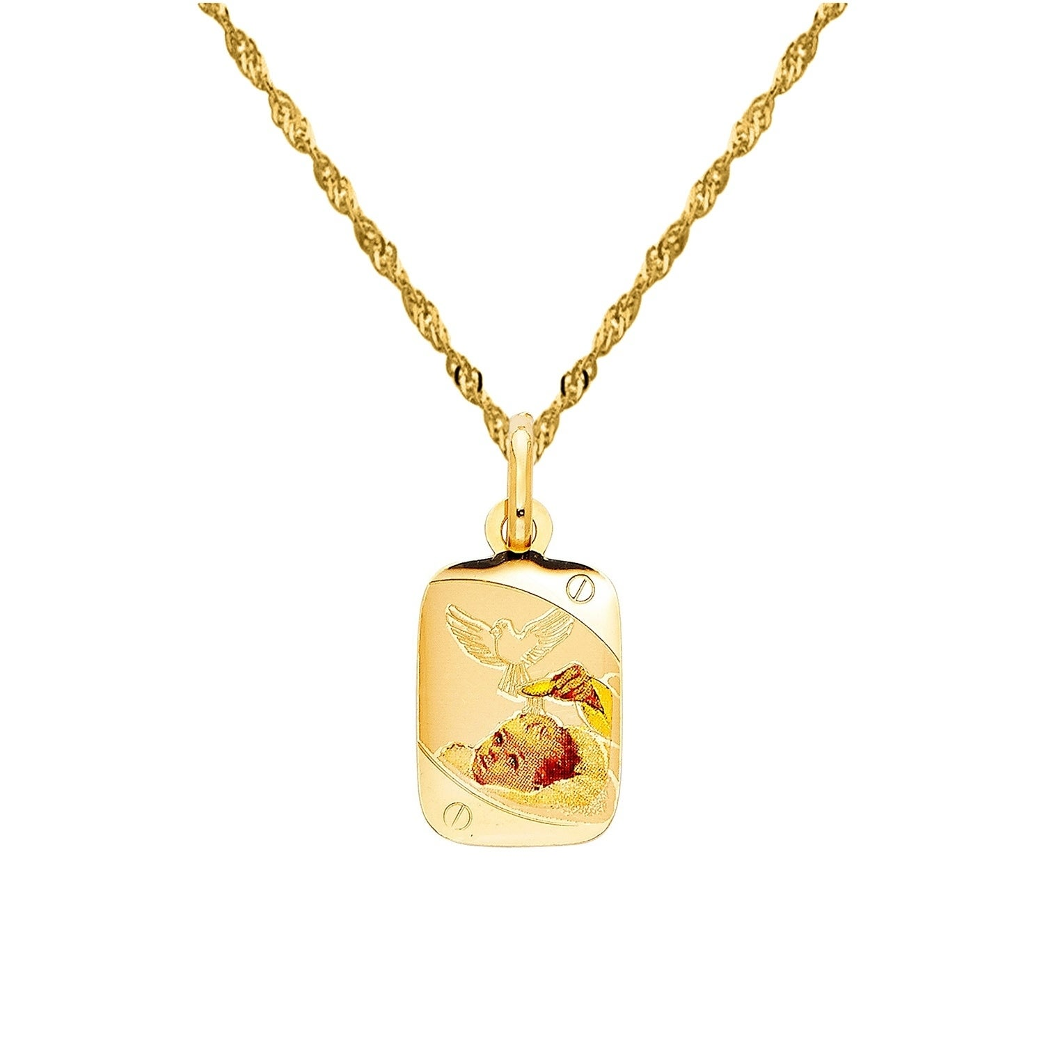 f gold in necklace paua pendant rectangular and set plate