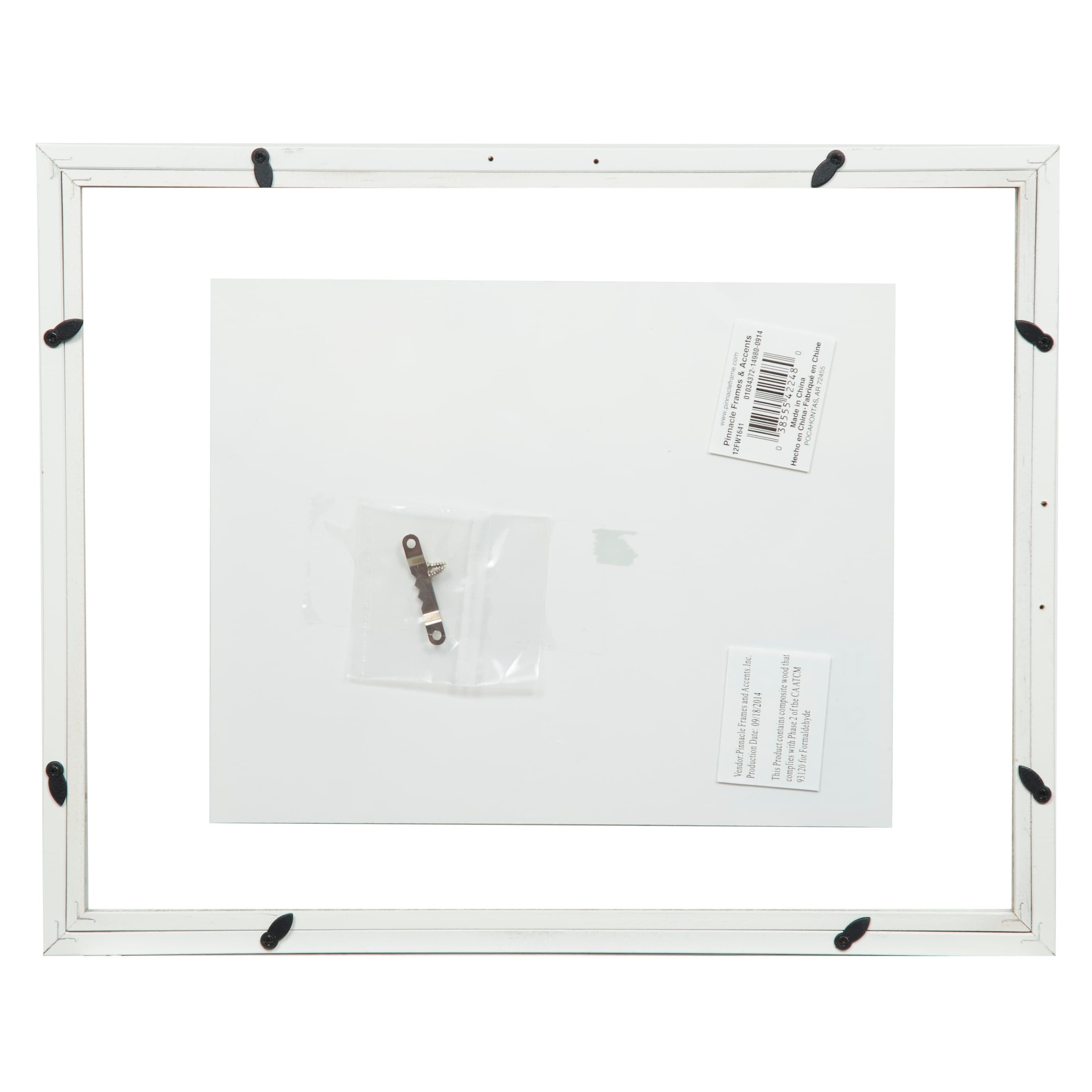 Shop 11x14 Float 8x10 White Picture Frame - Free Shipping On Orders ...