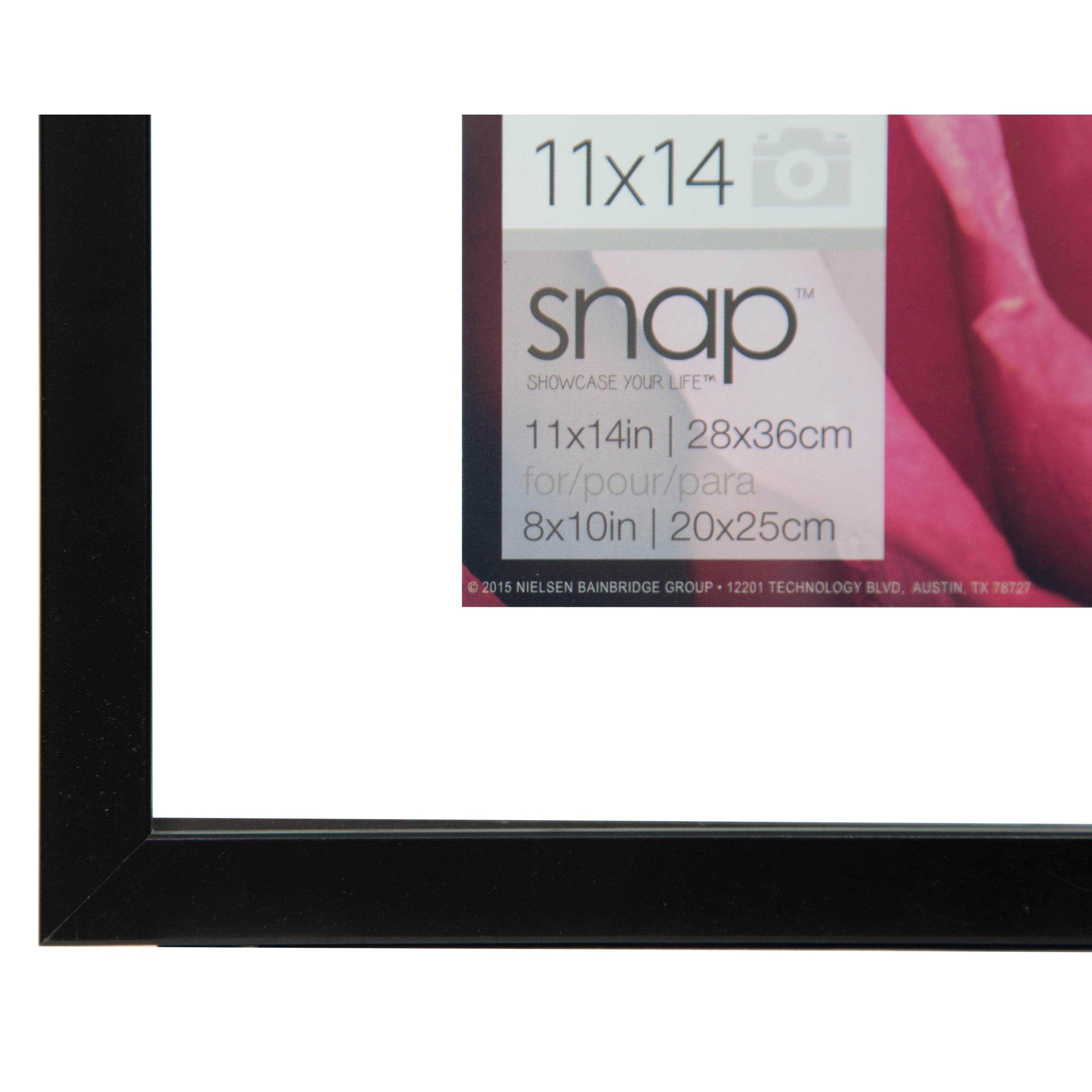 Shop 11x14 Float 8x10 Black Picture Frame - Free Shipping On Orders ...