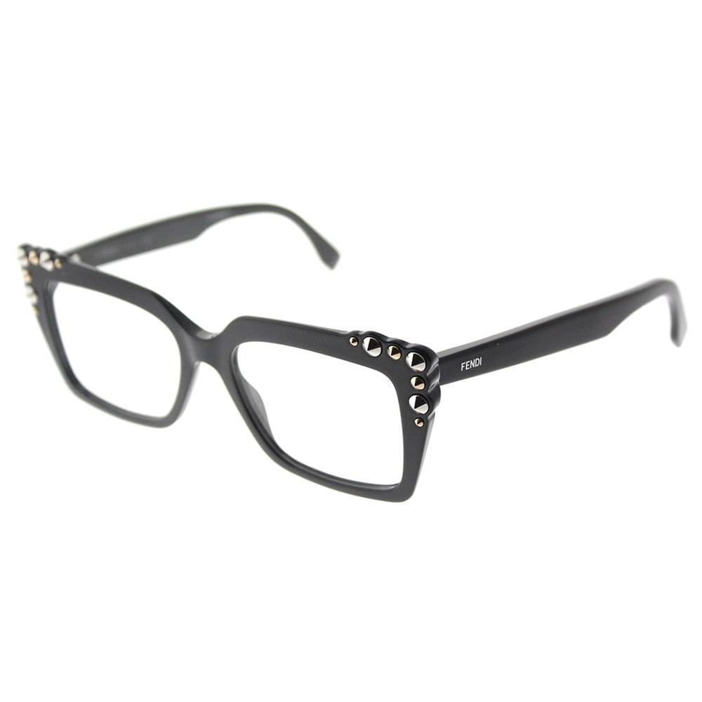 Shop Fendi Square FF 0262 807 Womens Black Frame Eyeglasses - On ...