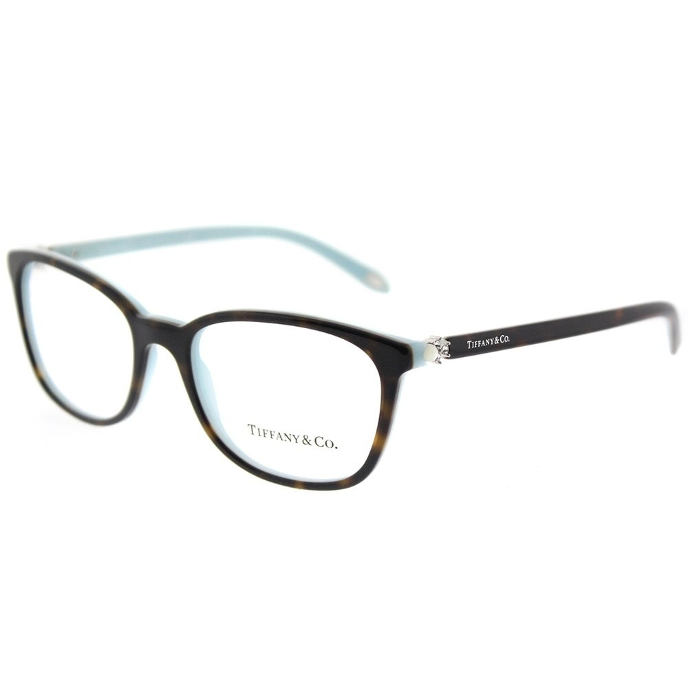 Tiffany & Co. Square TF 2109H 8134 Womens Havana on Blue Frame ...