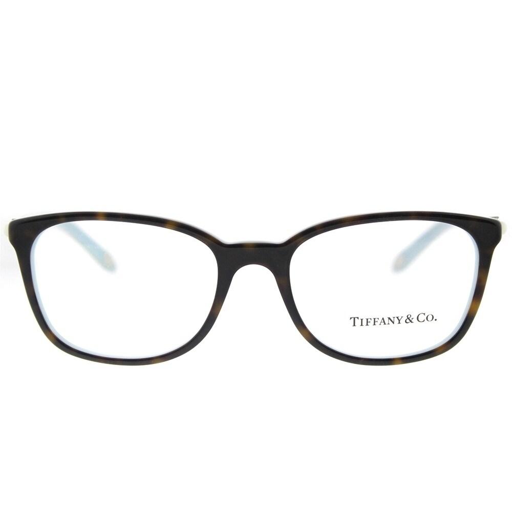 b32b3d2c48cb Shop Tiffany   Co. Square TF 2109H 8134 Womens Havana on Blue Frame  Eyeglasses - Free Shipping Today - Overstock - 18127230