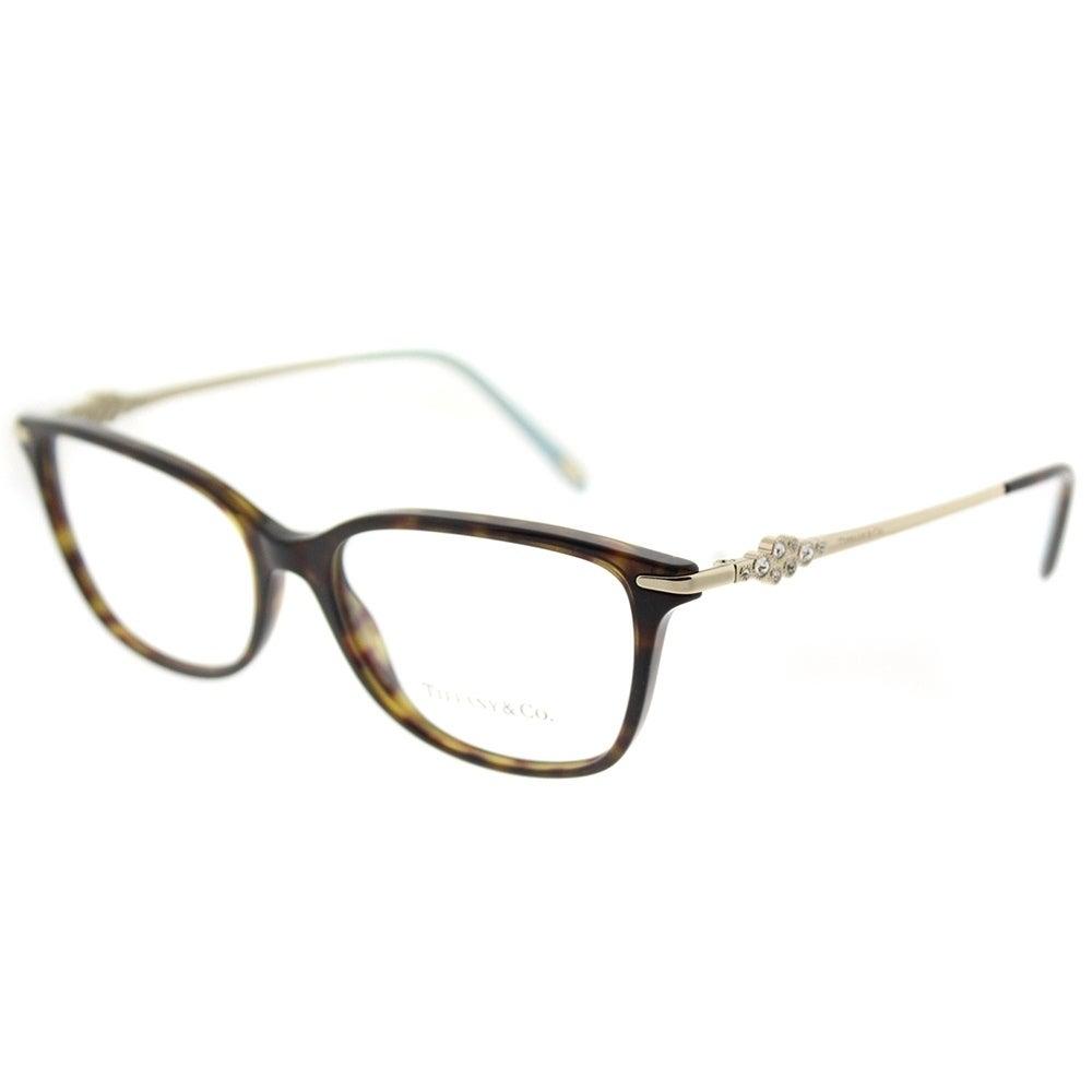 0707721250e2 Shop Tiffany   Co. Square TF 2133B 8015 Womens Dark Havana Frame Eyeglasses  - Ships To Canada - Overstock.ca - 18127231