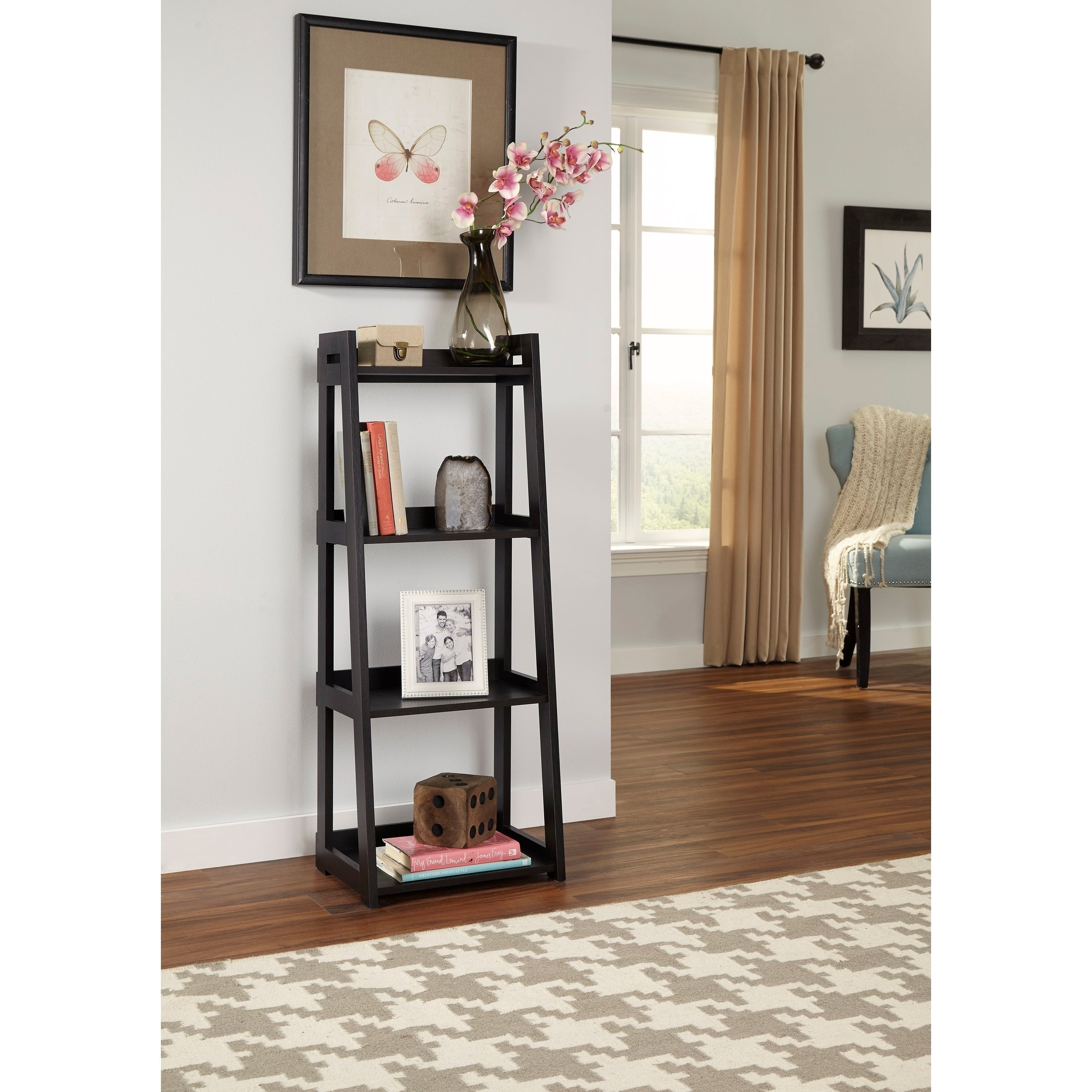 Superbe Shop ClosetMaid No Tool Assembly Narrow 4 Tier Ladder Shelf   Free Shipping  Today   Overstock.com   18127636