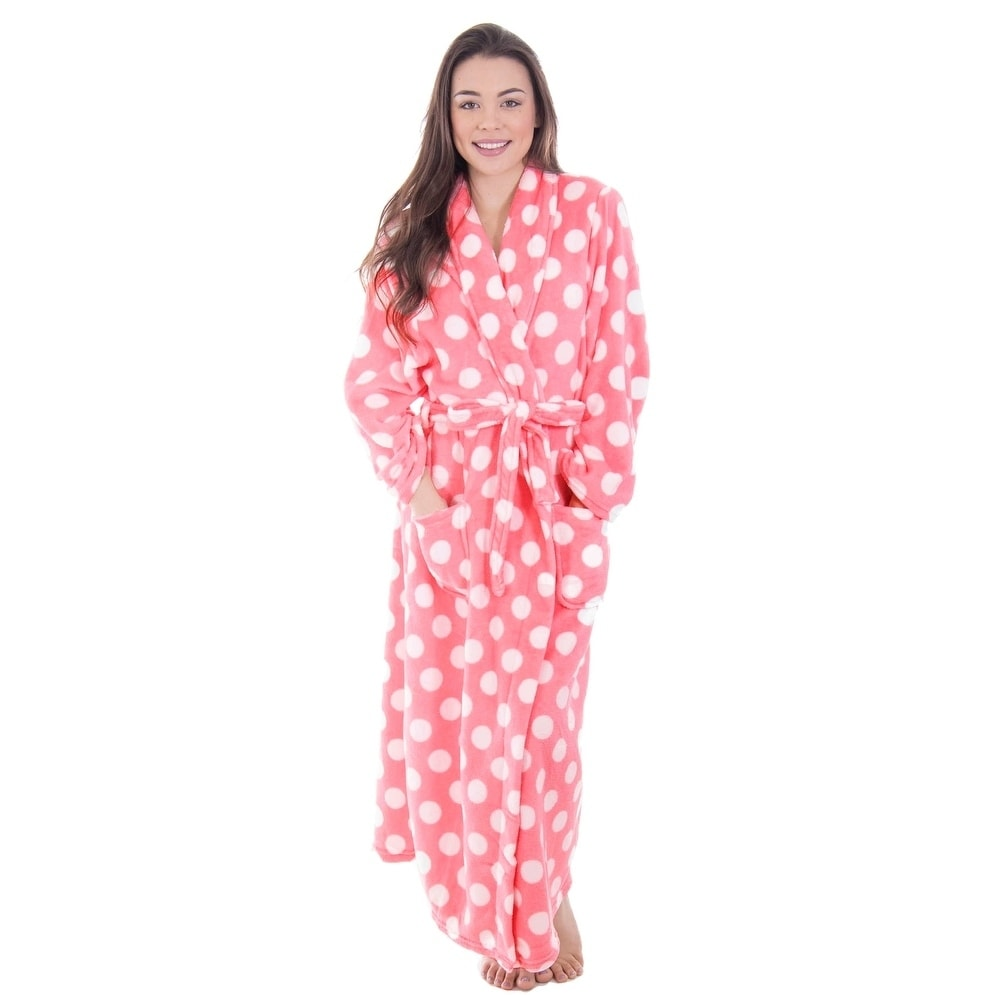 Shop Women s Fleece Plush Wrap Kimono Robe Bathrobe with Pockets ... 9c4ade19d