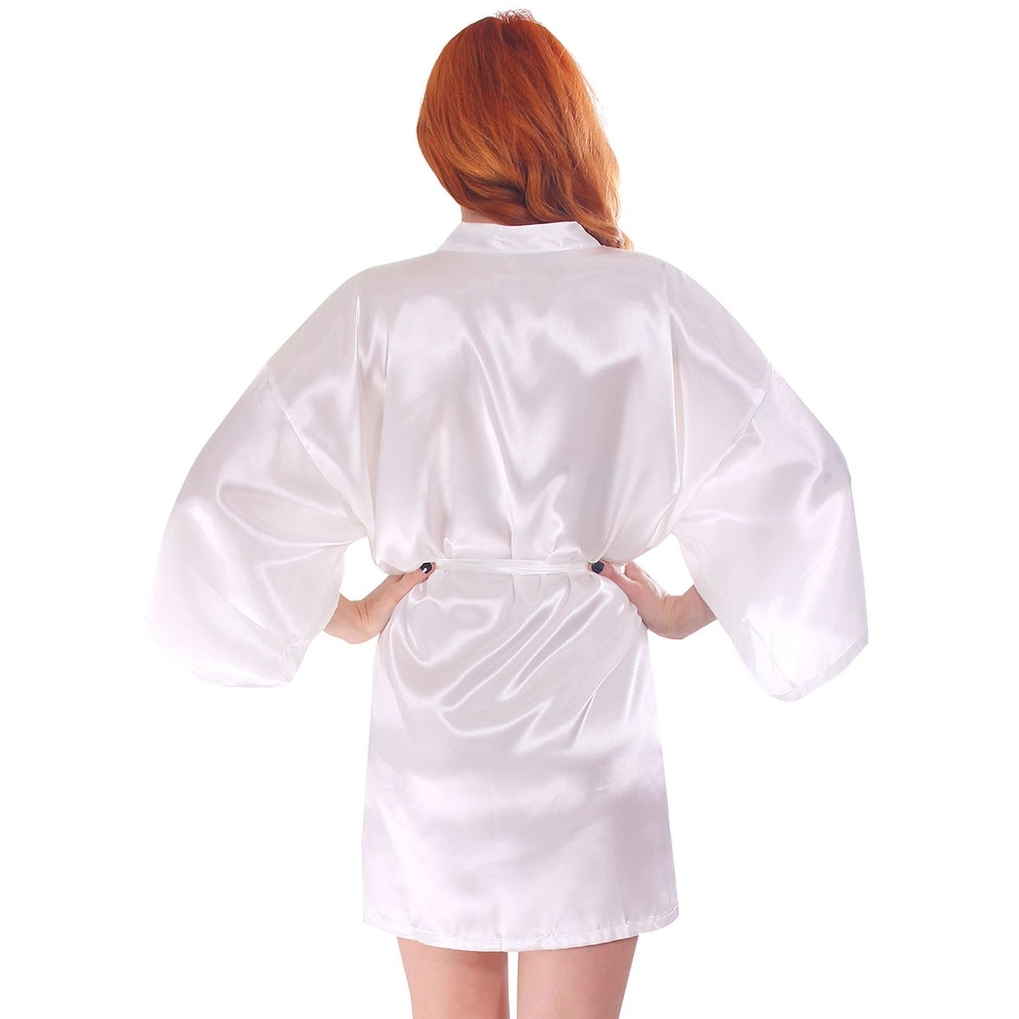 Shop Womens Silk Satin Short Lingerie Bridal Kimono Robe On Sale Mom N Bab Shirt White Red Stripe Free Shipping Orders Over 45 18128575