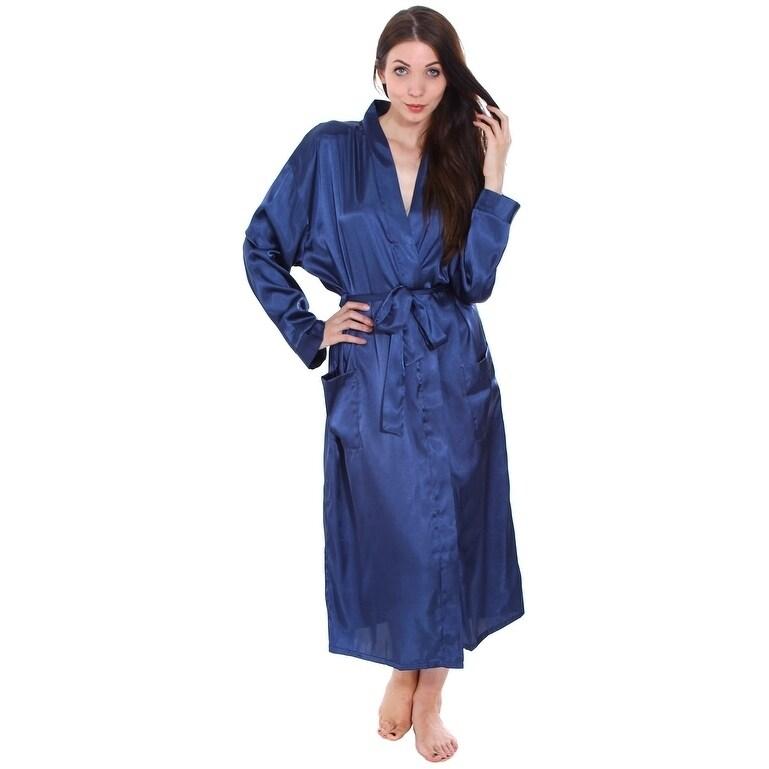 Shop Simplicity Women s Satin Sleepwear Kimono Robe - Free Shipping On  Orders Over  45 - Overstock - 18128576 e2747cfa0