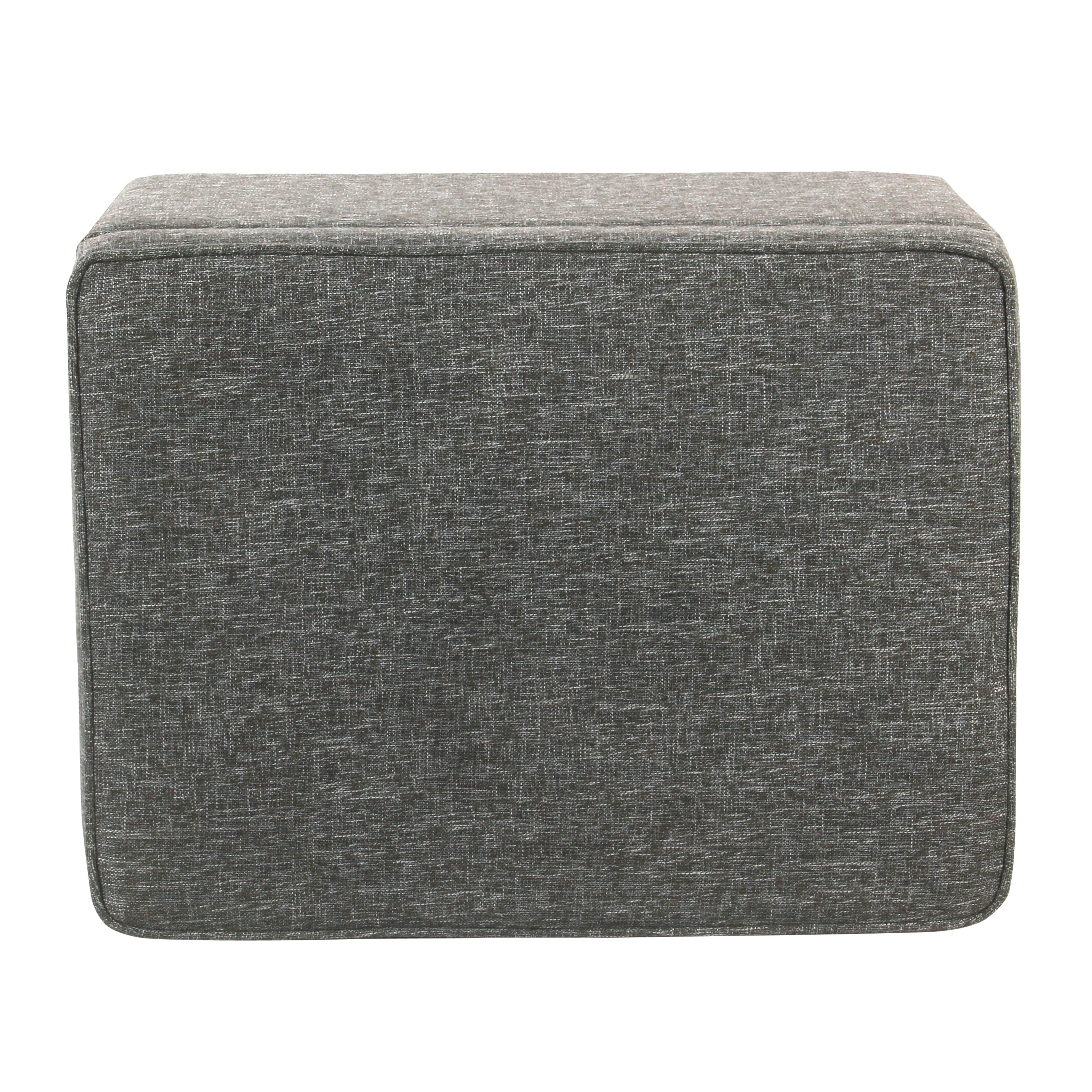HomePop Medium Storage Ottoman   Slate Gray   Free Shipping Today    Overstock   24281264