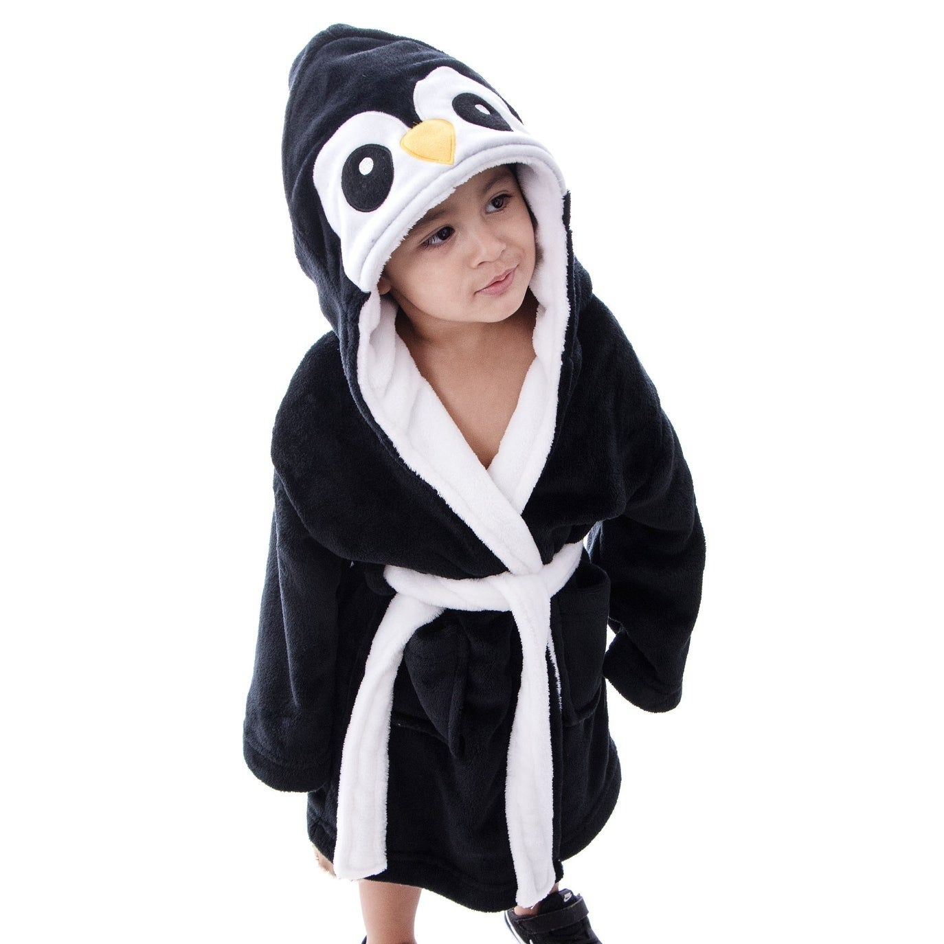 Shop Arctic Paw Kids  Zoo Crew Plush Soft Hooded Terry Bathrobes - Penguin  - Free Shipping Today - Overstock - 18128818 c058043bb