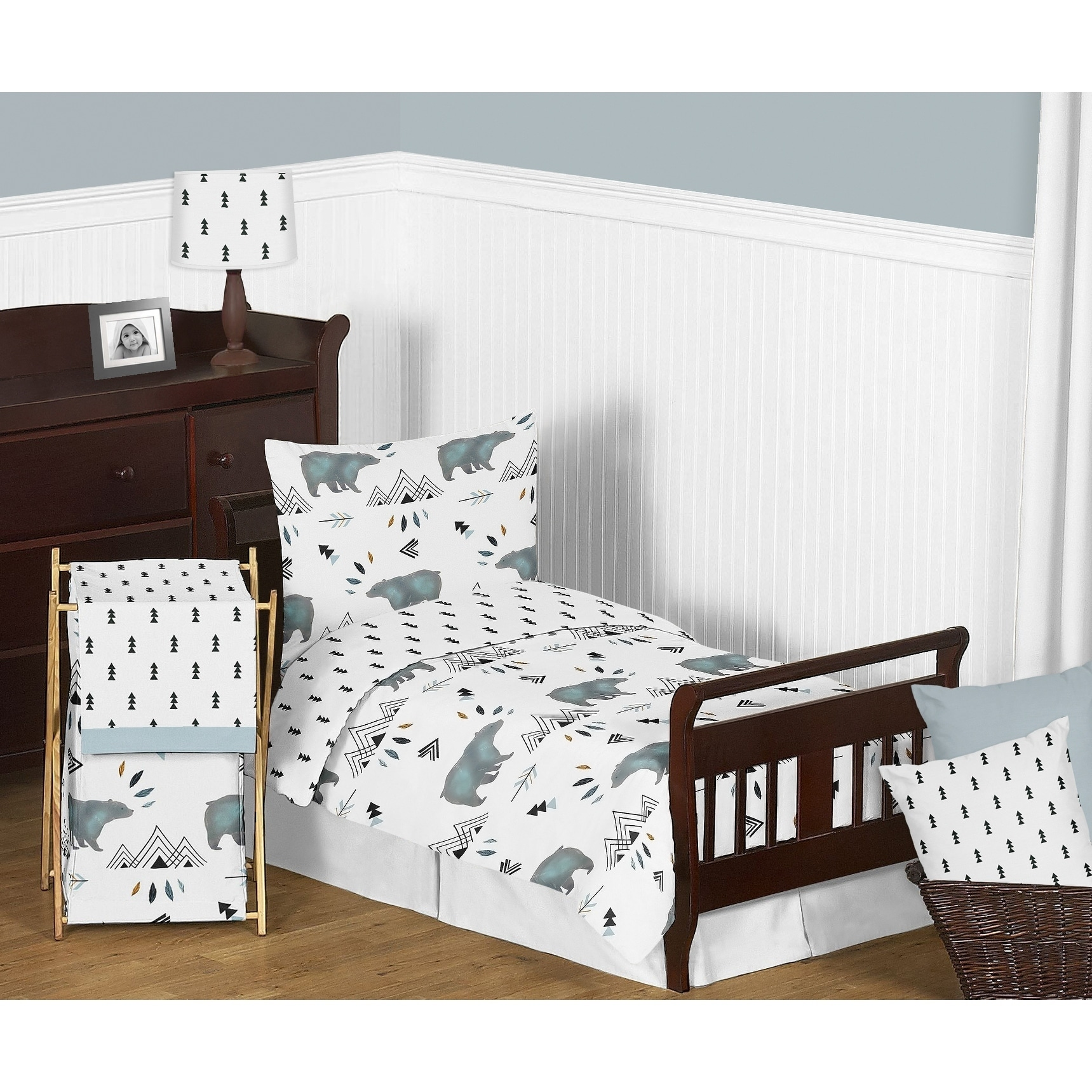 Shop 5pc Toddler Bedding Set For The Bear Mountain Collection By Sweet Jojo  Designs   Free Shipping Today   Overstock.com   18128924
