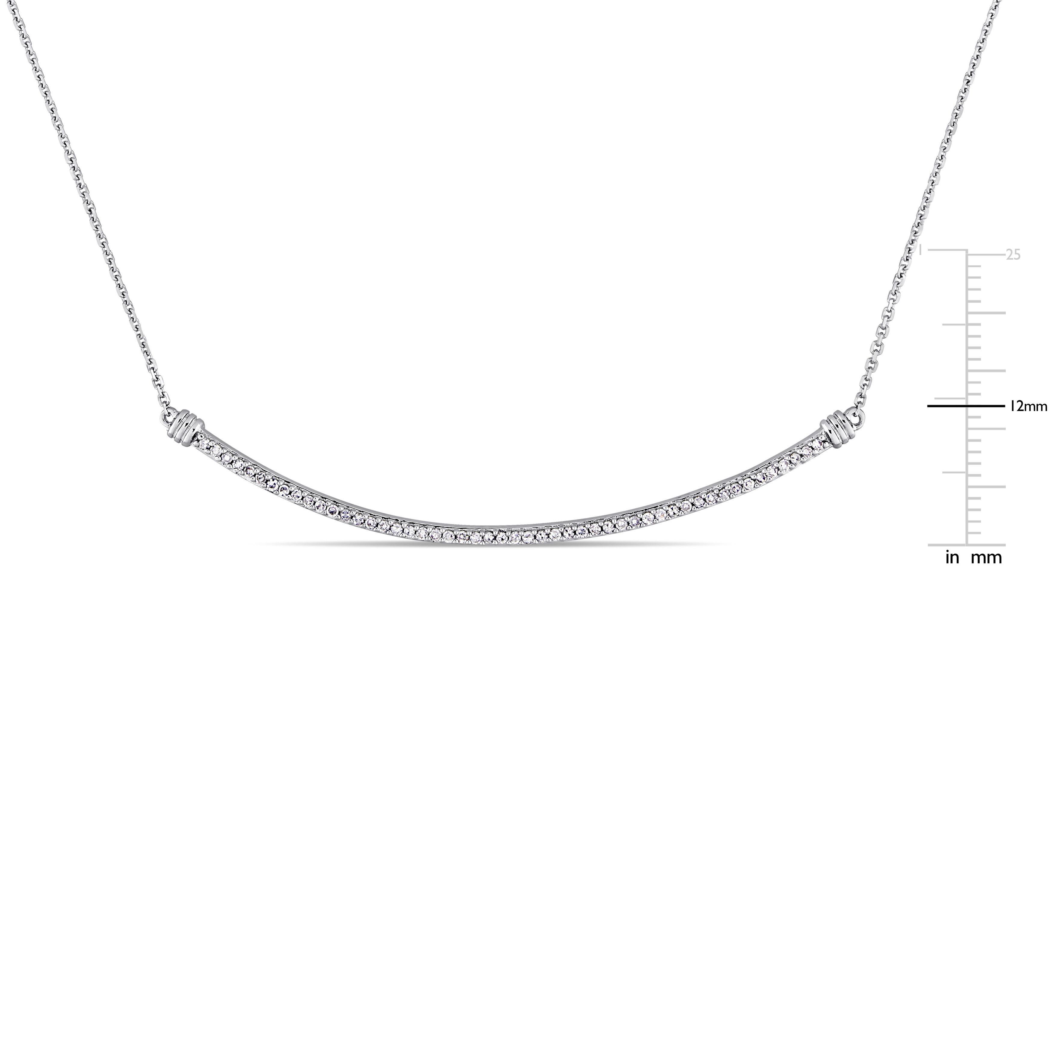 shop miadora signature collection 14k white gold 1 4ct tdw diamond
