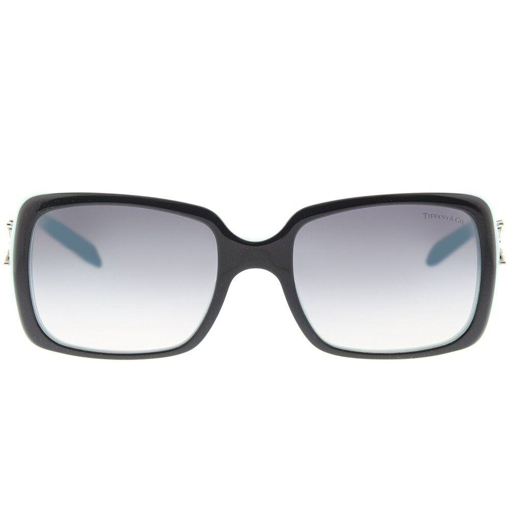 ed81b835bd2b Shop Tiffany   Co. Rectangle TF 4047B 80553C Womens Top Black on Azure  Frame Grey Gradient Lens Sunglasses - Ships To Canada - Overstock - 18131367