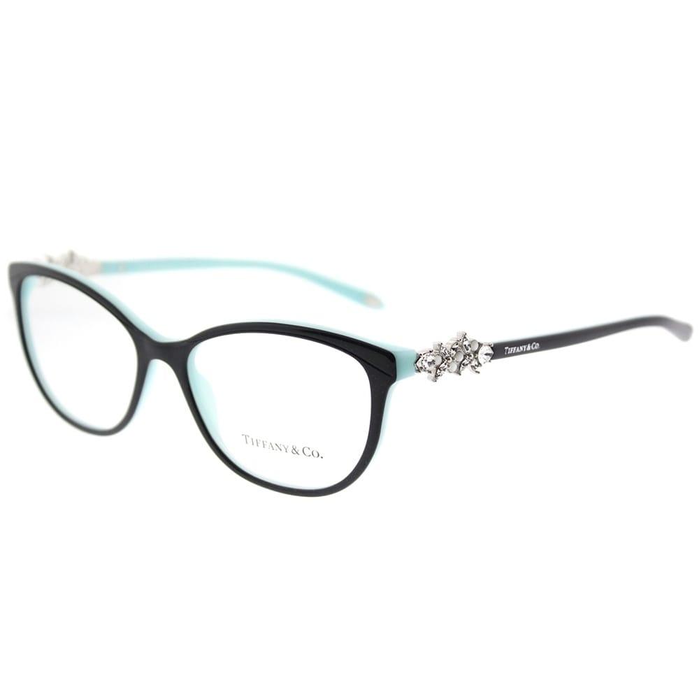 Tiffany & Co. Cat Eye TF 2144H 8055 Womens Black on Blue Frame ...