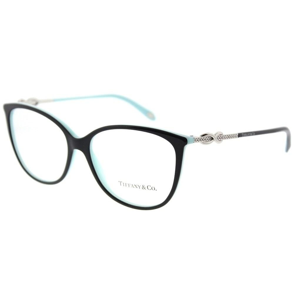 Shop Tiffany & Co. Oval TF 2143B 8055 Womens Black on Blue Frame ...