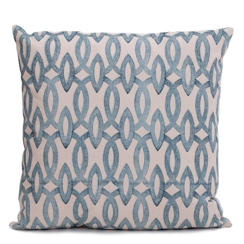 Shop Block Printed 20inch Decorative Pillow Cover Free Shipping