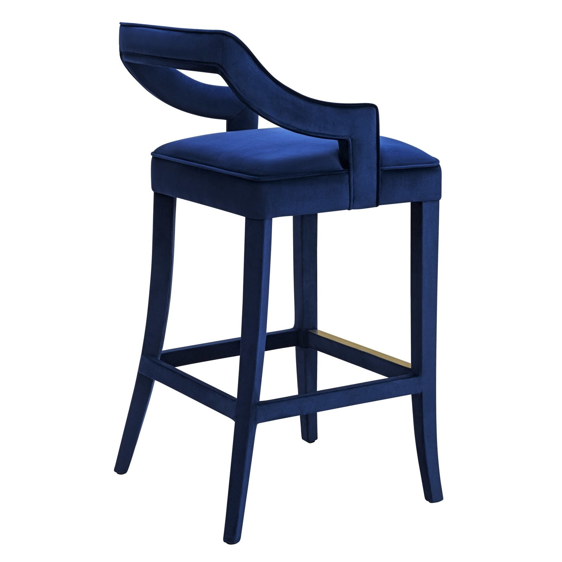 Tiffany Navy Velvet Bar Stool Free Shipping Today Overstock