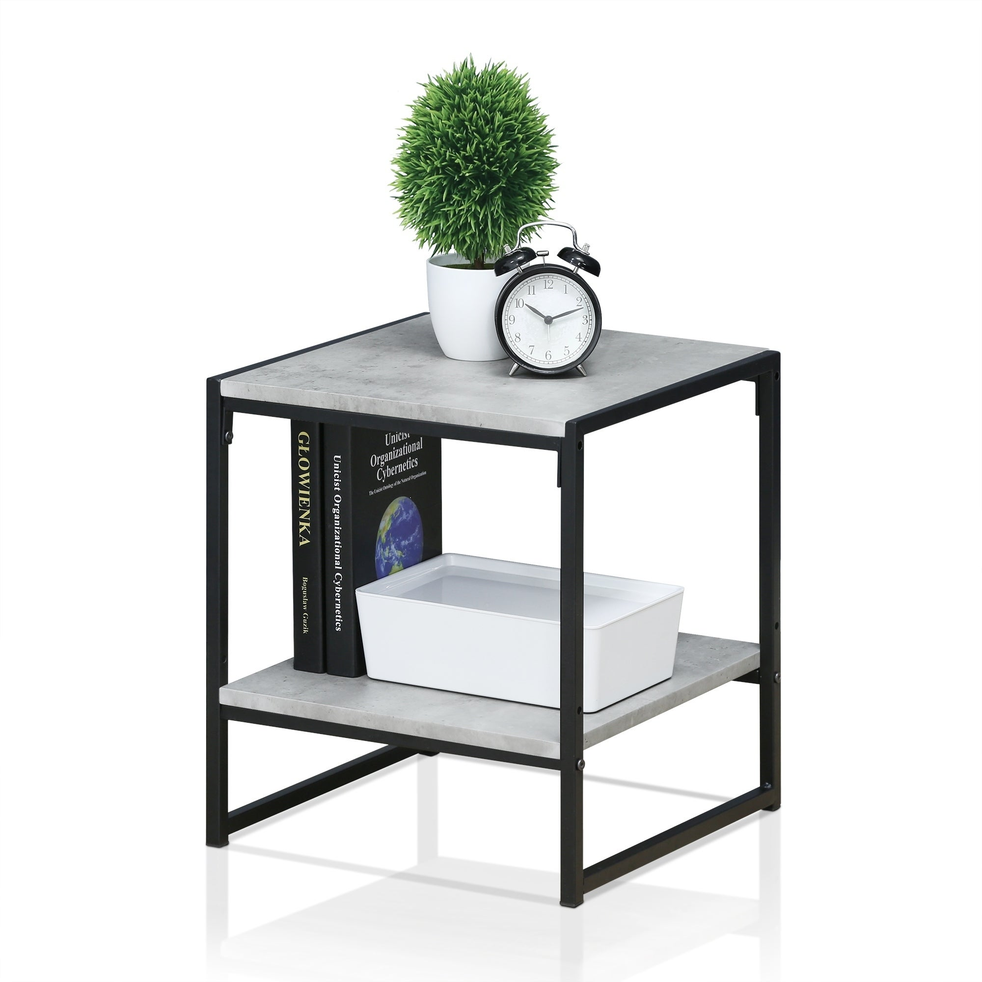 Furinno Modern 2 Tier End Table Free Shipping Orders Over $45
