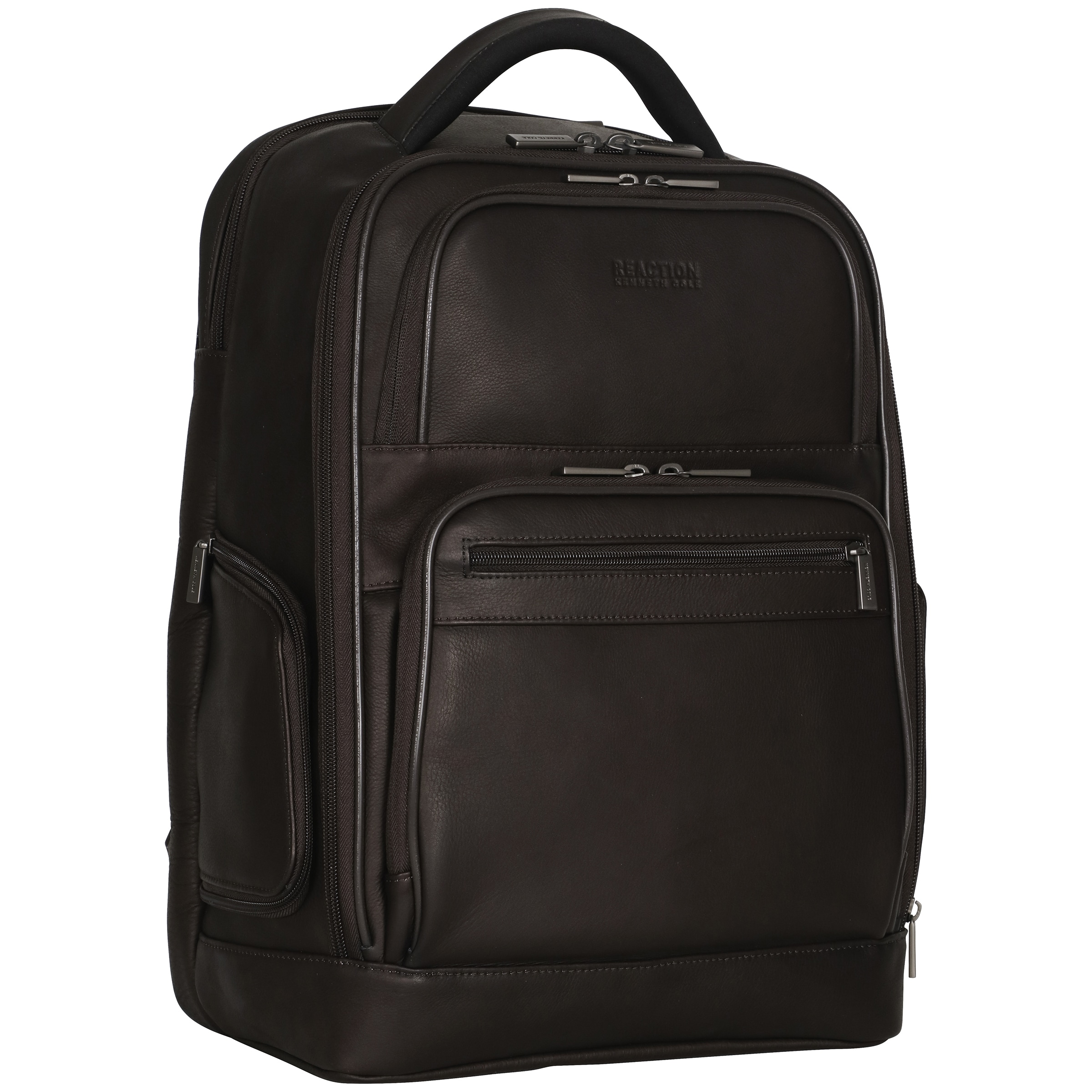 3a0765bcf Shop Kenneth Cole Reaction Colombian Leather Dual Compartment 15.6-inch  Laptop Business Backpack with Anti-theft RFID - Free Shipping Today -  Overstock - ...