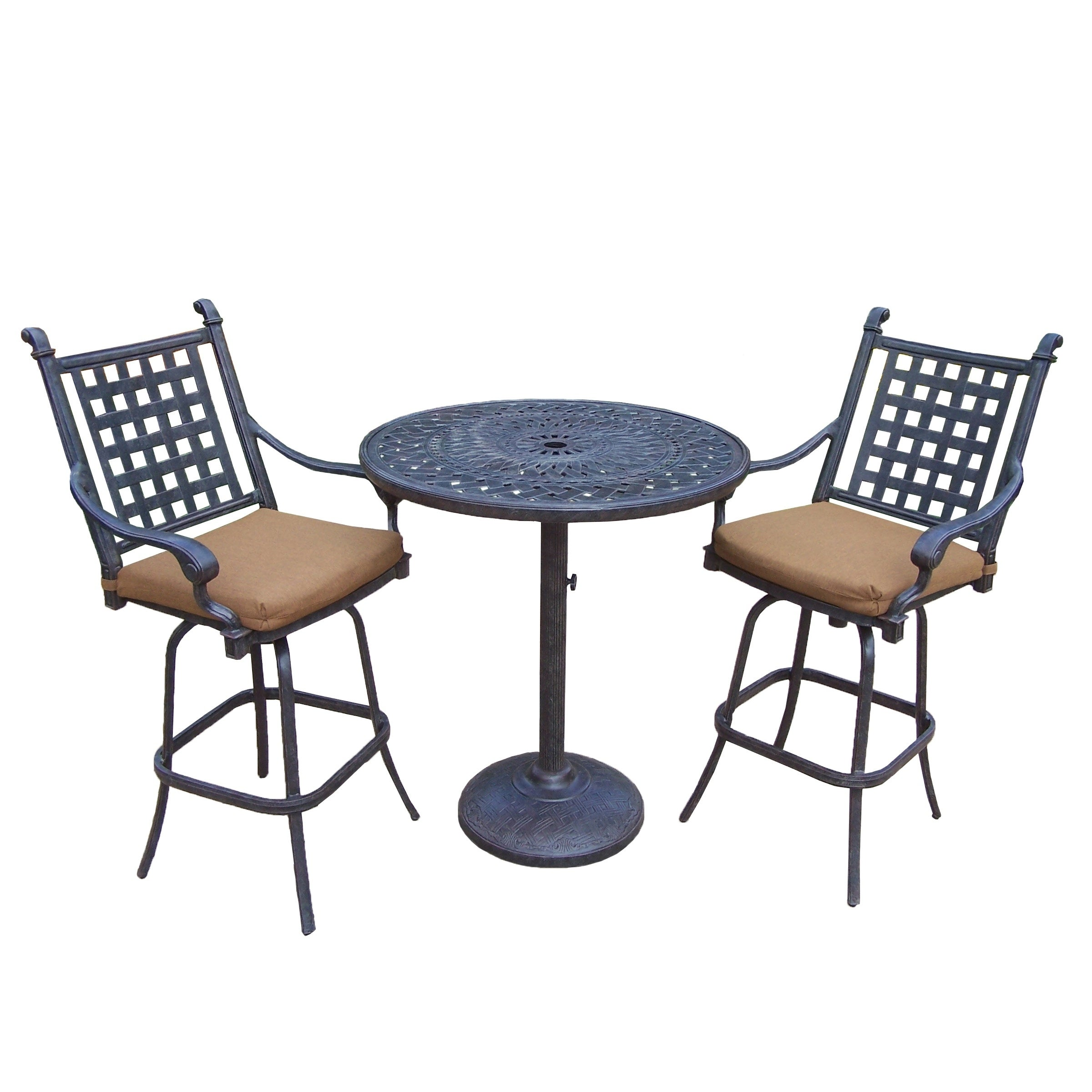 Sunbrella Cushioned Set With 13 Pc Dining Set, Extendable Table, 3 Pc Bar  Set, 3 Pc Chaise Lounge Set And 3 Pc Swivel Rocker Set   Free Shipping  Today ...