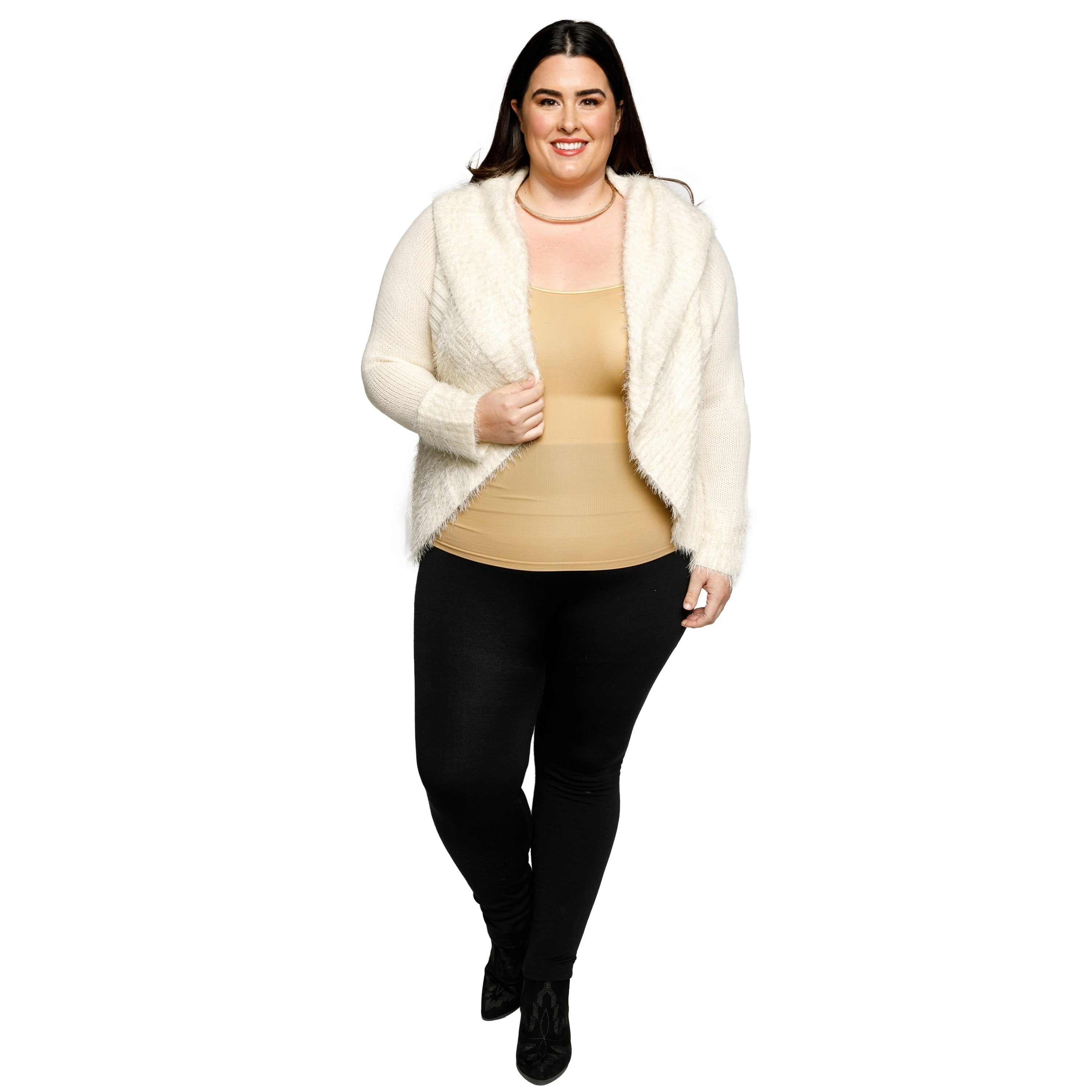 10aca0ae43ac2 Shop Xehar Womens Plus Size Fuzzy Cocoon Open Front Cardigan Sweater - Free  Shipping On Orders Over  45 - Overstock - 18150604
