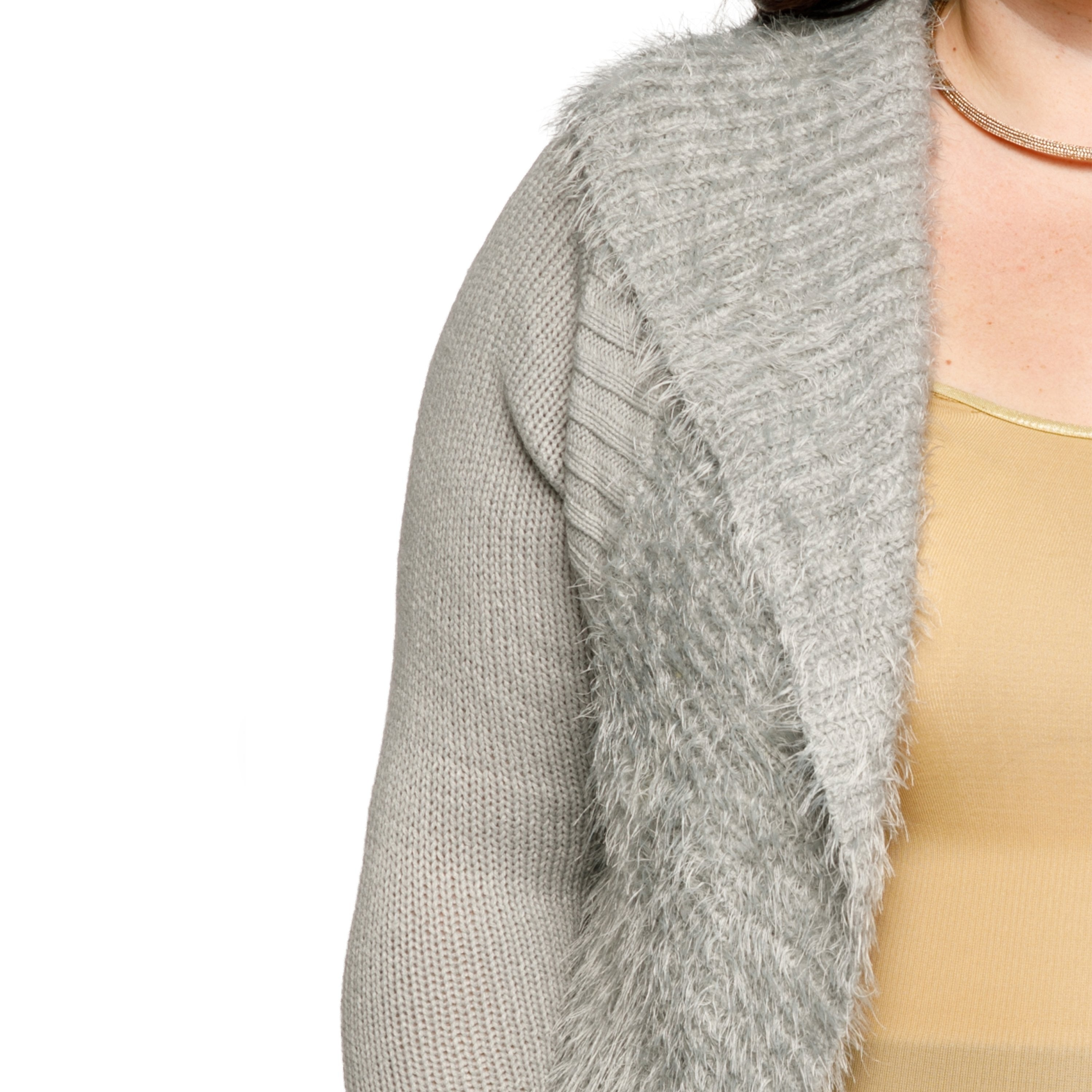 04a4e50db43d3 Shop Xehar Womens Plus Size Fuzzy Cocoon Open Front Cardigan Sweater - Free  Shipping On Orders Over  45 - Overstock.com - 18150659