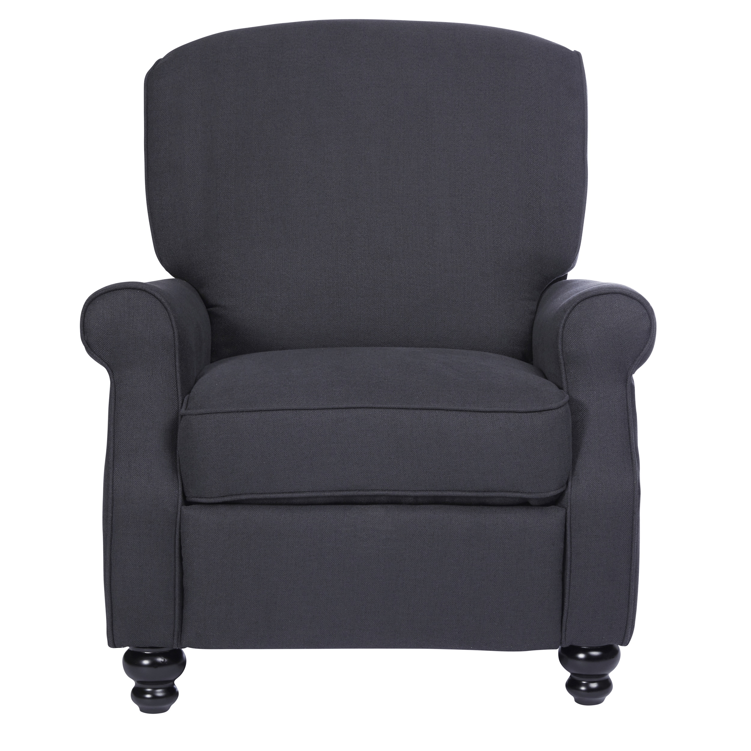 Shop ProLounger Grey Herringbone Push Back Recliner Chair   On Sale   Free  Shipping Today   Overstock.com   18152650