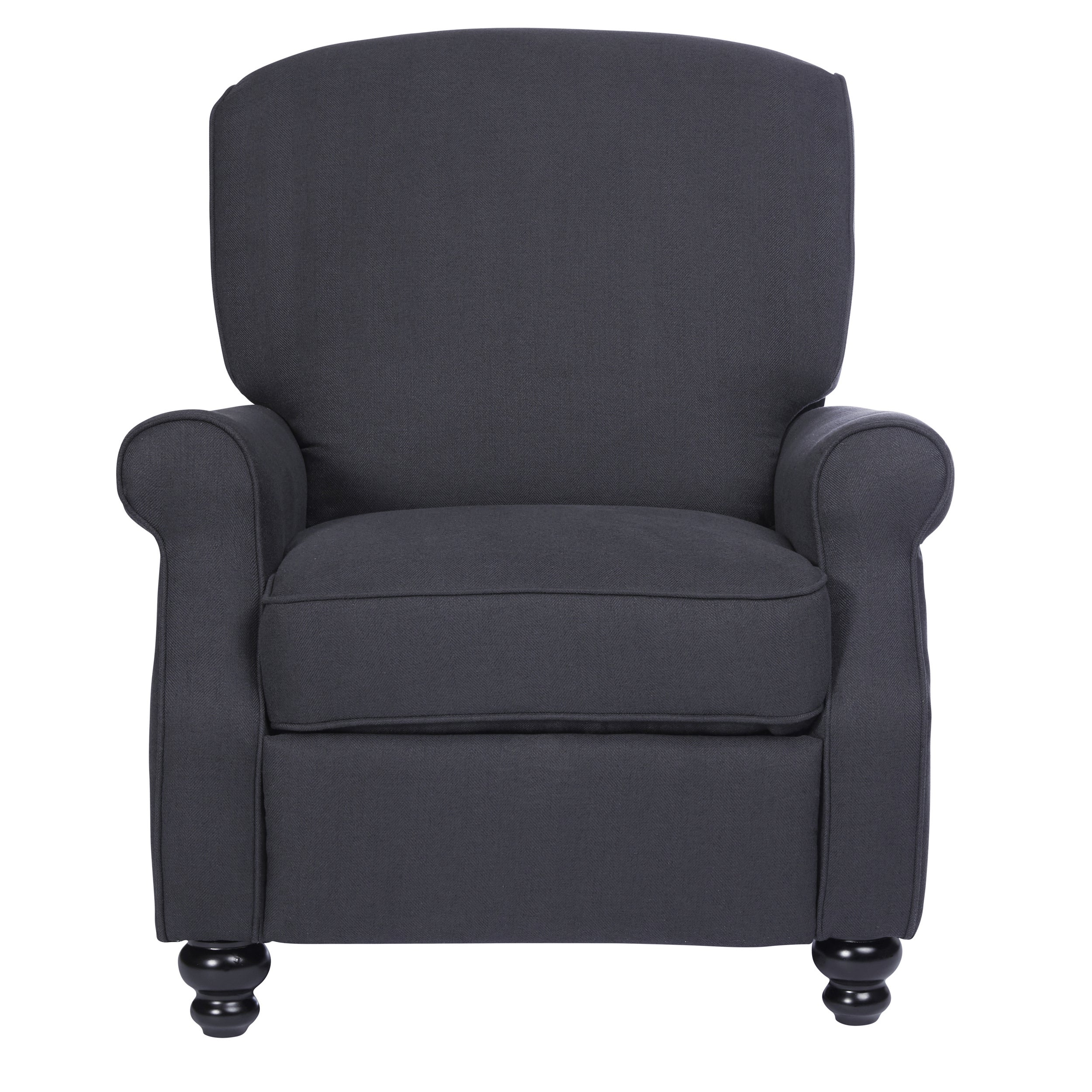 Shop ProLounger Grey Herringbone Push Back Recliner Chair   Free Shipping  Today   Overstock.com   18152650