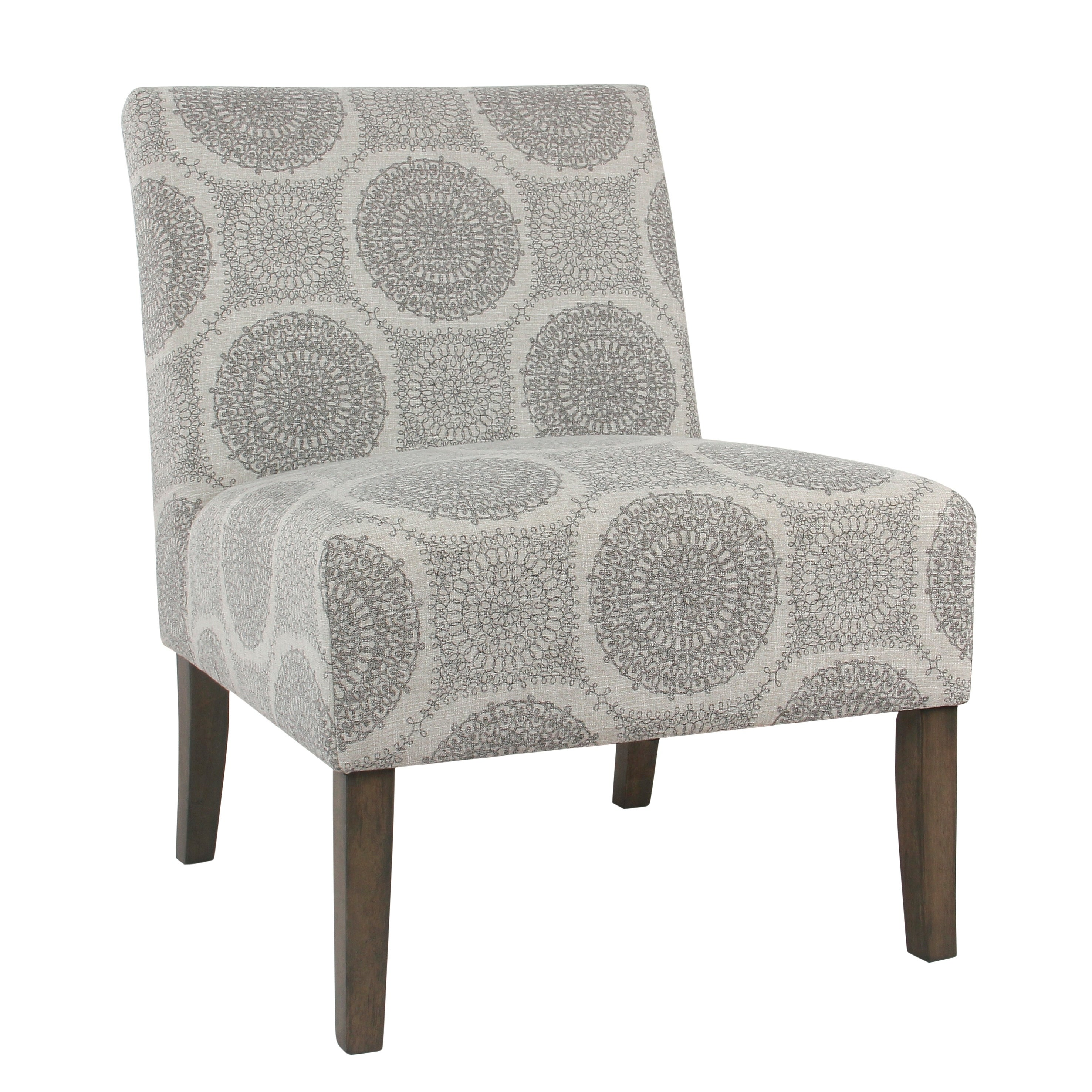 Shop Palm Canyon Lyn Armless Accent Chair - Gray Medallion - On Sale ...