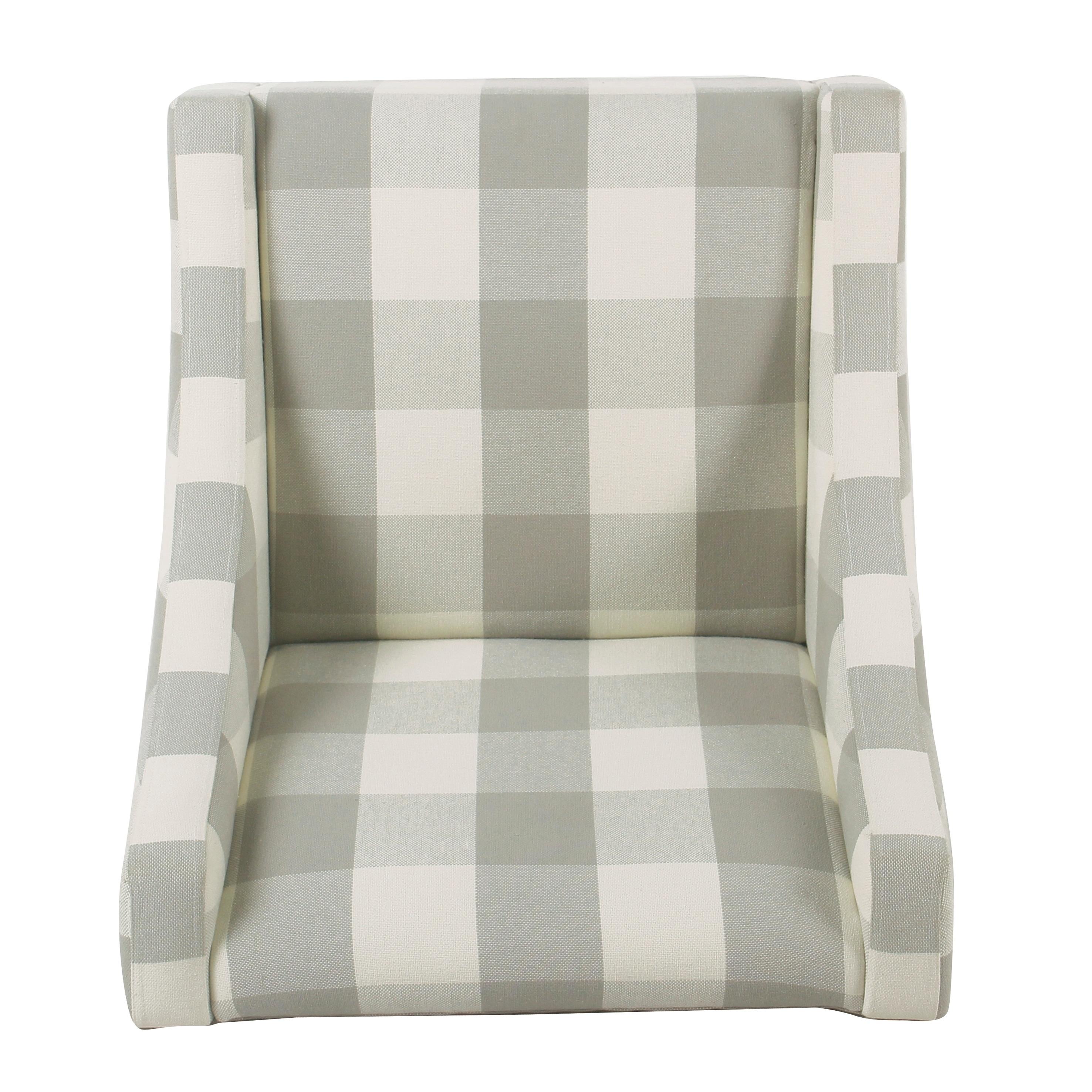 Shop Porch U0026 Den Los Feliz Lyric Modern Swoop Accent Chair   Gray Plaid    Free Shipping Today   Overstock.com   18152782