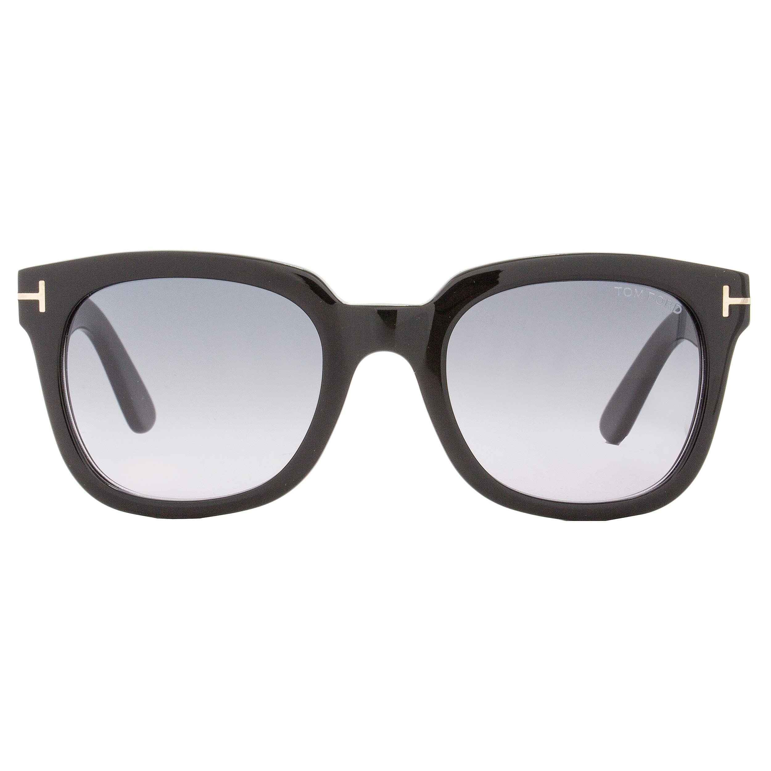 9923ef86f4cc Shop Tom Ford TF198 Campbell 01B Women s Shiny Black Gold Gray Gradient  Lens Sunglasses - Free Shipping Today - Overstock - 18153208