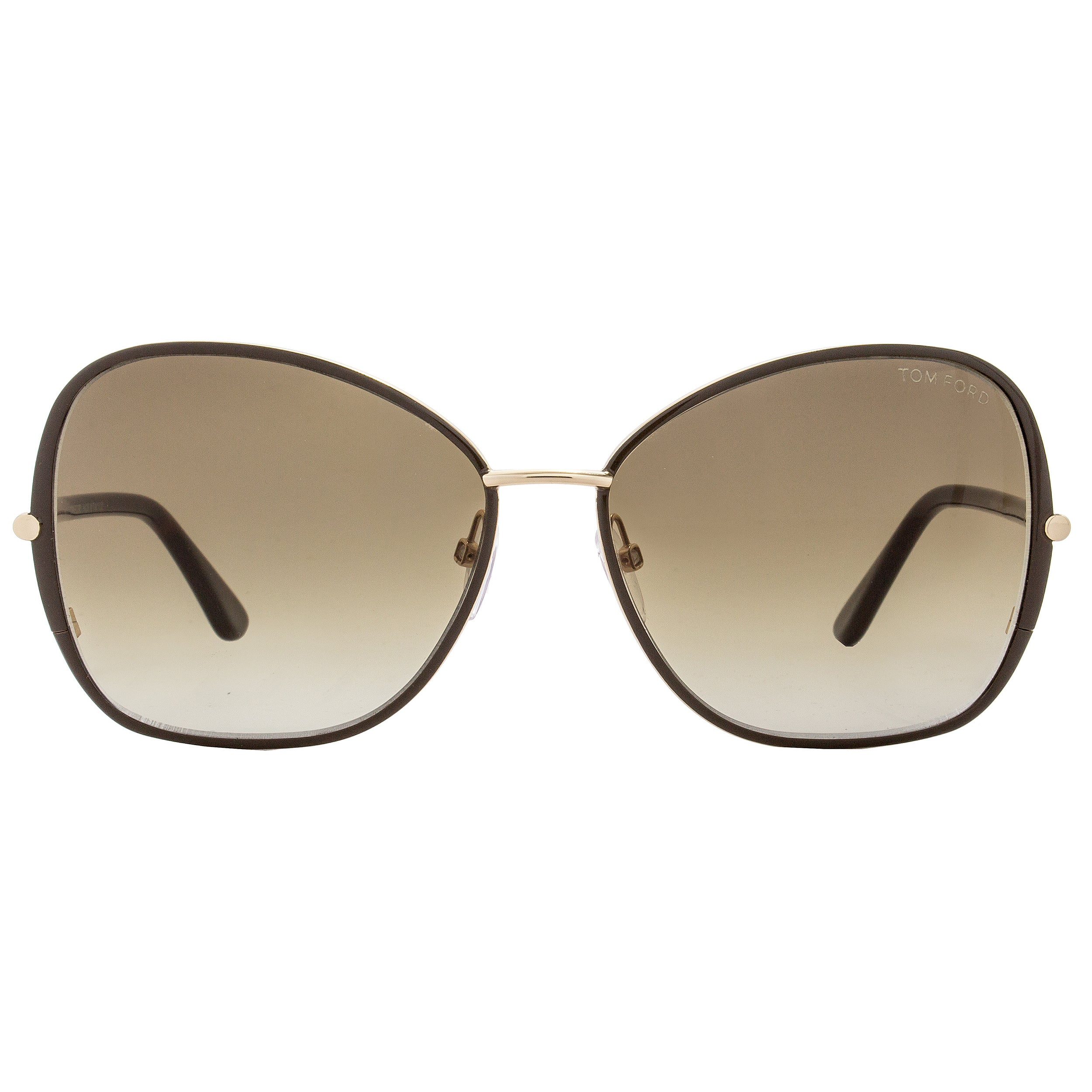 9c14fe84a66 Shop Tom Ford TF319 Solange 28F Women s Brown Gold Havana Brown Gradient  Lens Sunglasses - Ships To Canada - - 18153210