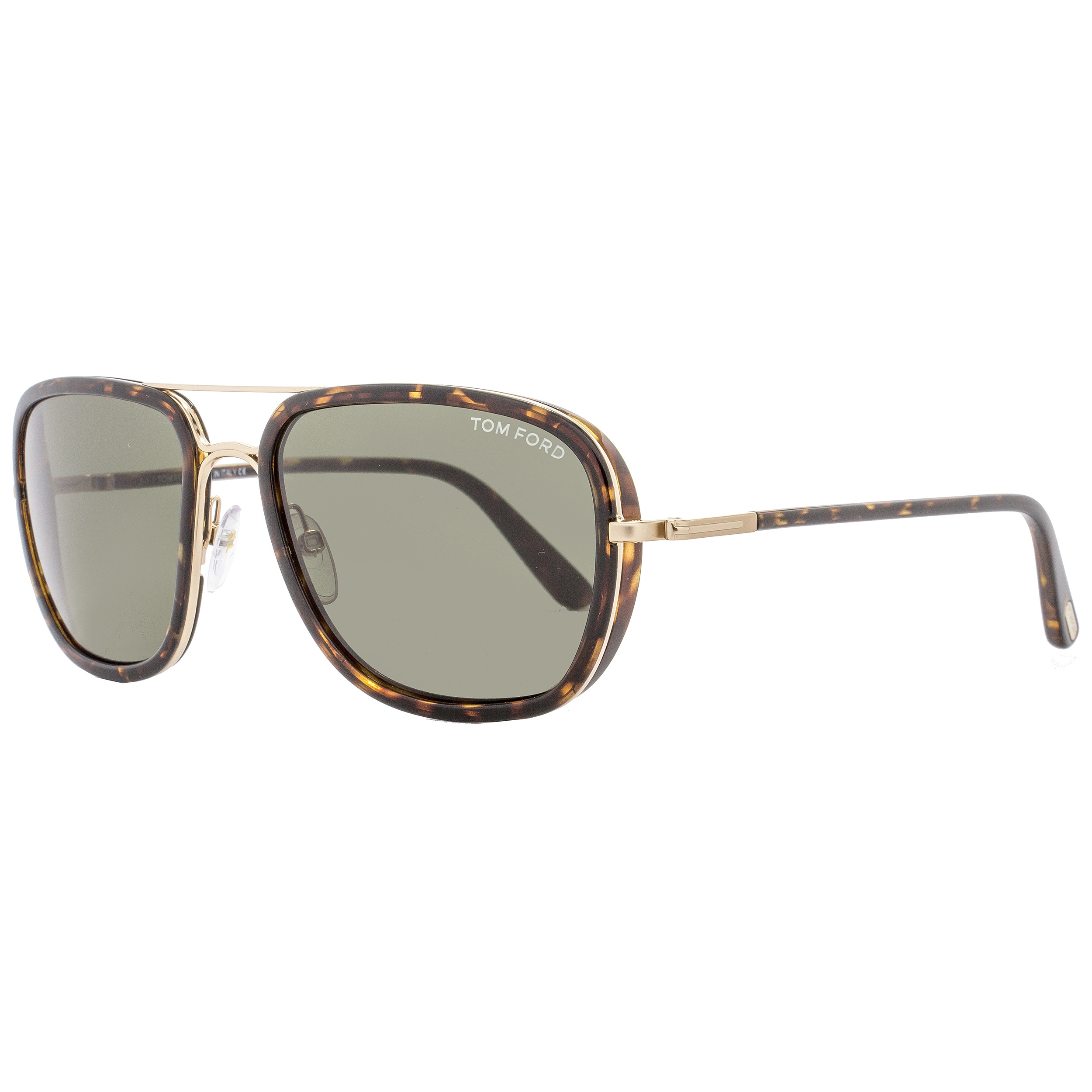 a36401d6b4f7 Shop Tom Ford TF340 Riccardo 28N Women s Havana Gold Green Lens Sunglasses  - Free Shipping Today - Overstock - 18153212