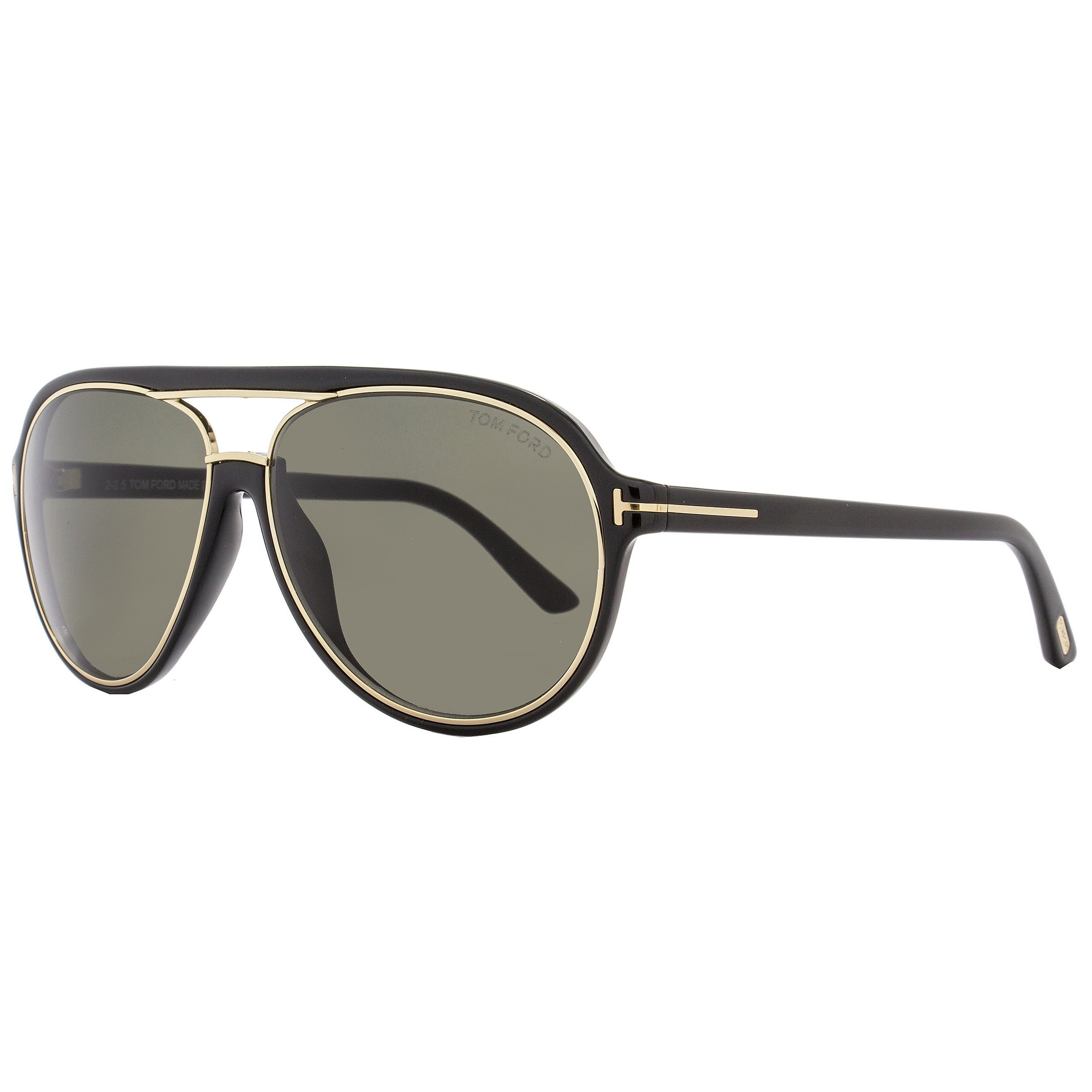 da163852cd11c Shop Tom Ford TF379 Sergio 01A Women s Shiny Black Gold Gray Lens Sunglasses  - Free Shipping Today - Overstock - 18153225