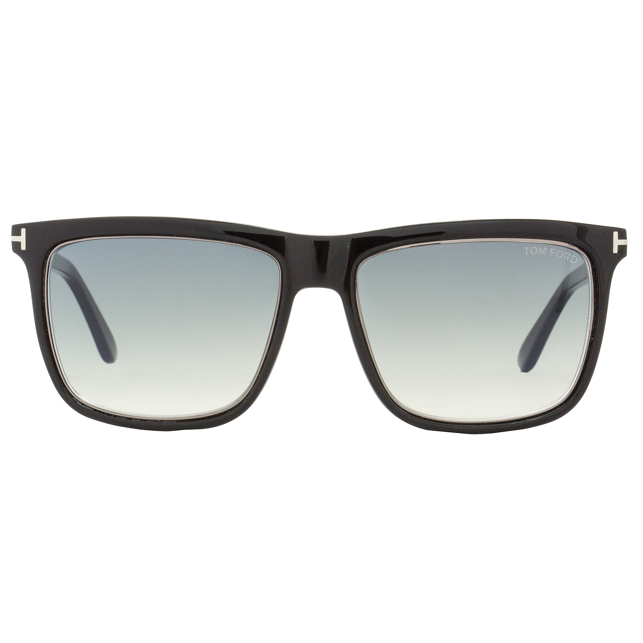 aee956c349 Shop Tom Ford TF392 Karlie 02W Women s Shiny Black Ruthenium Gray Blue  Gradient Lens Sunglasses - Free Shipping Today - Overstock - 18153227