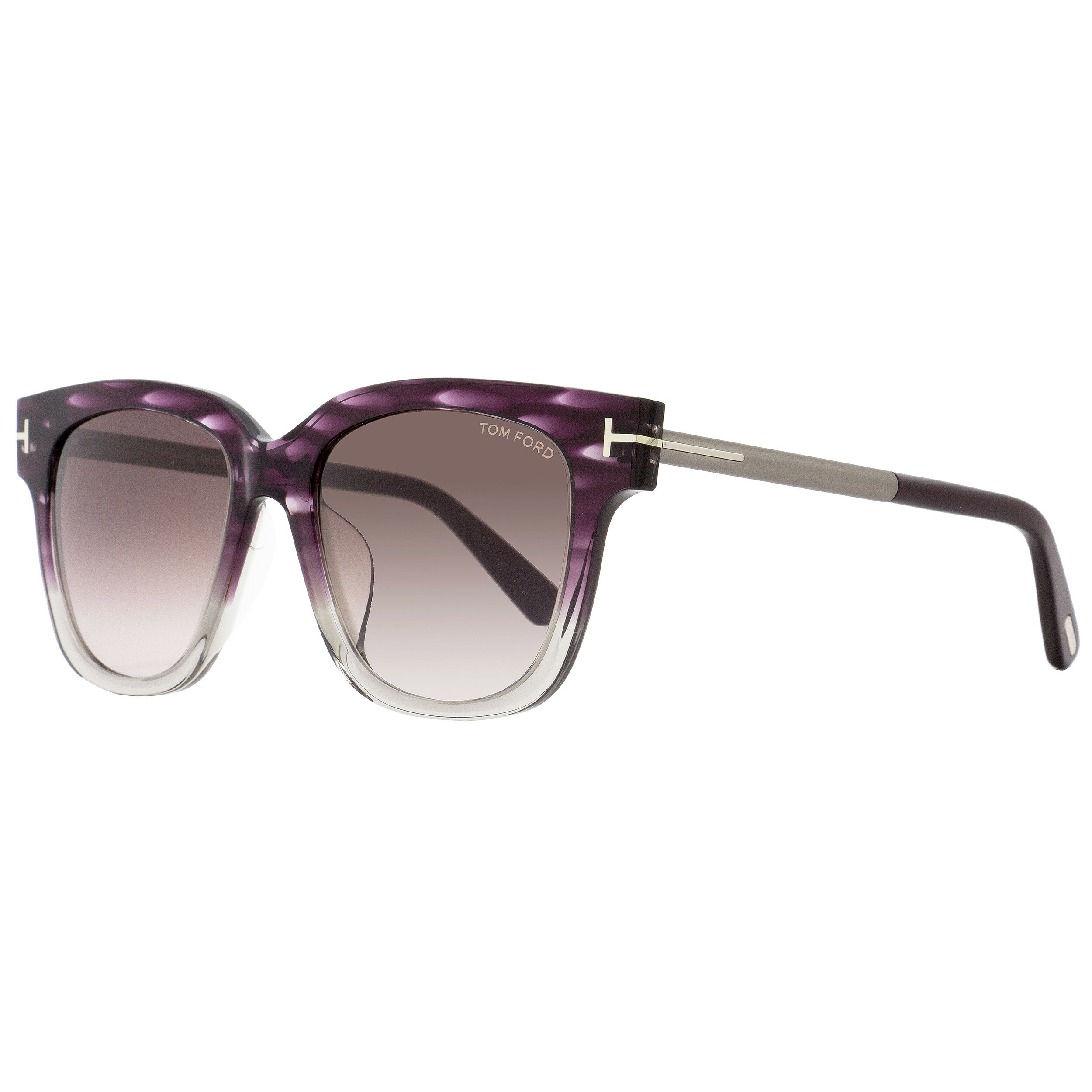 587e3b55e3ae Shop Tom Ford TF436F Tracy 83T Women s Violet Melange Ruthenium Wine Red  Gradient Lens Sunglasses - Free Shipping Today - Overstock - 18153232