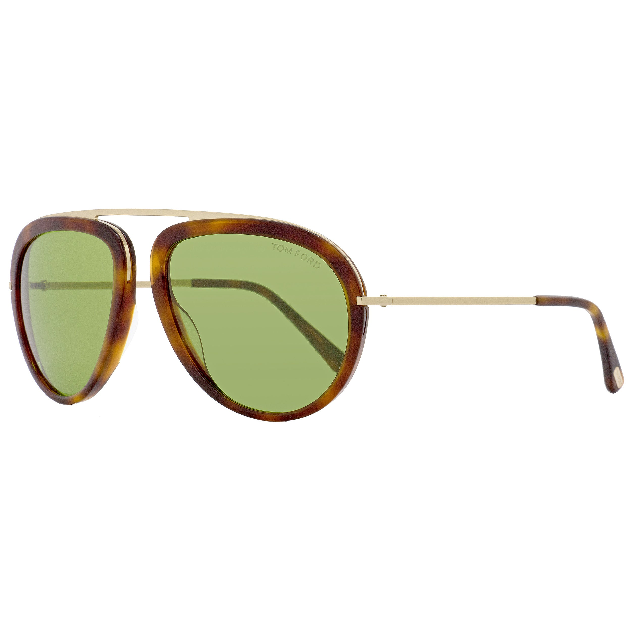 34e005bc43700 Shop Tom Ford TF452 Stacy 56N Women s Havana Rose Gold Green Lens Sunglasses  - Free Shipping Today - Overstock - 18153235