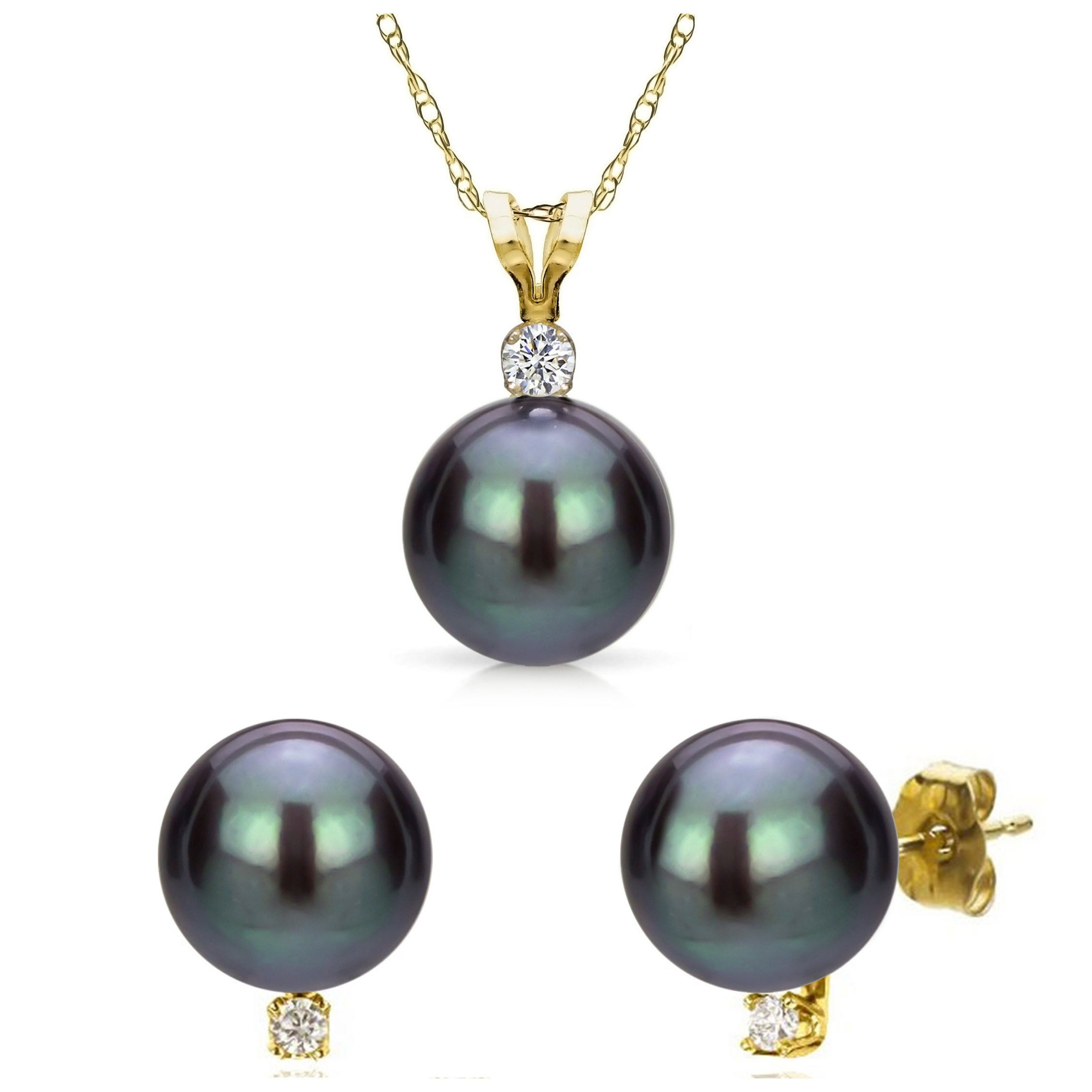 pearl necklace bead fw cultured pendant earring product set gold bracelet