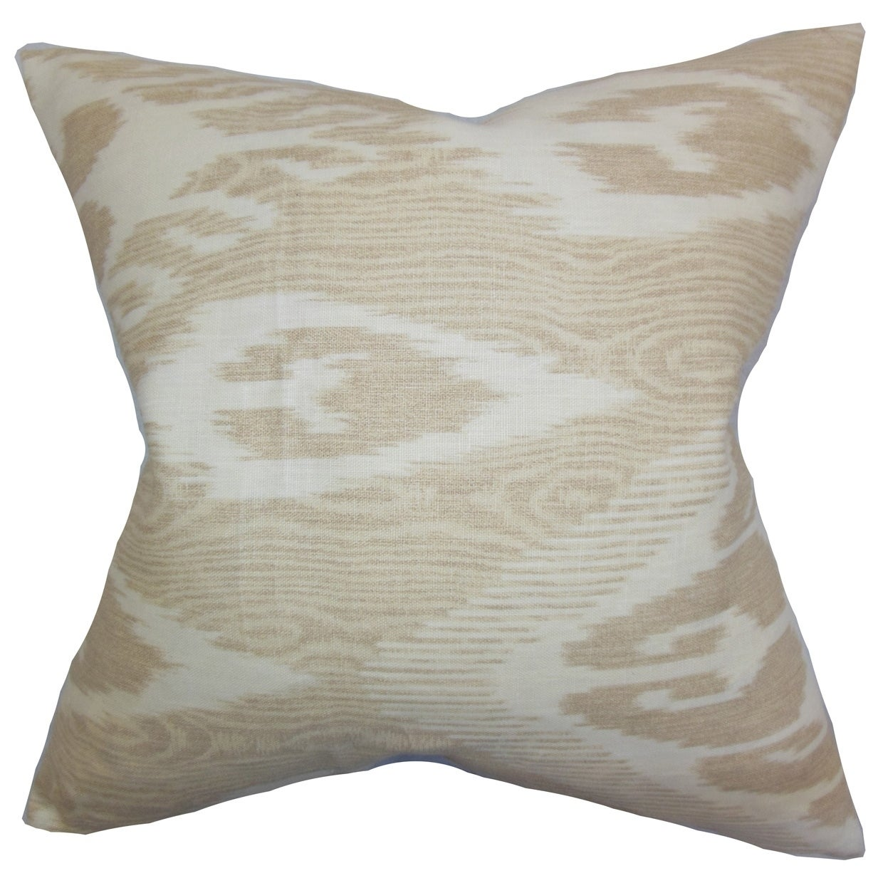 Shop set of 2 fernande ikat throw pillows in neutral free shipping today overstock com 18153956