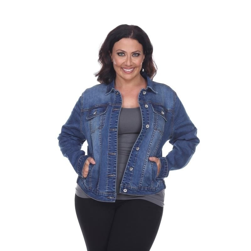b11081d2bcf Shop White Mark Women's Plus Size Denim Jacket - Free Shipping On Orders  Over $45 - Overstock - 18157179