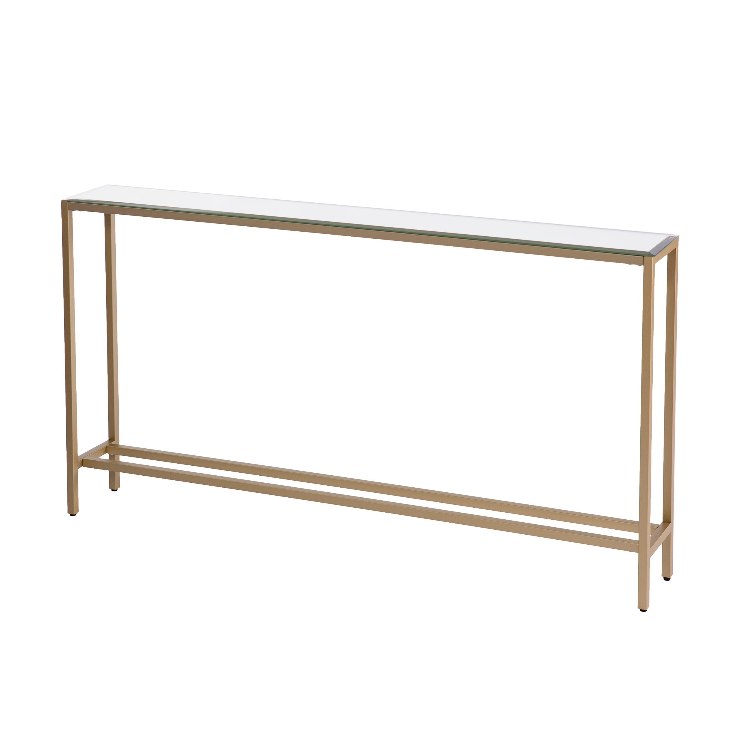 Shop harper blvd dunbar narrow long console table w mirrored top gold on sale free shipping today overstock com 18157317