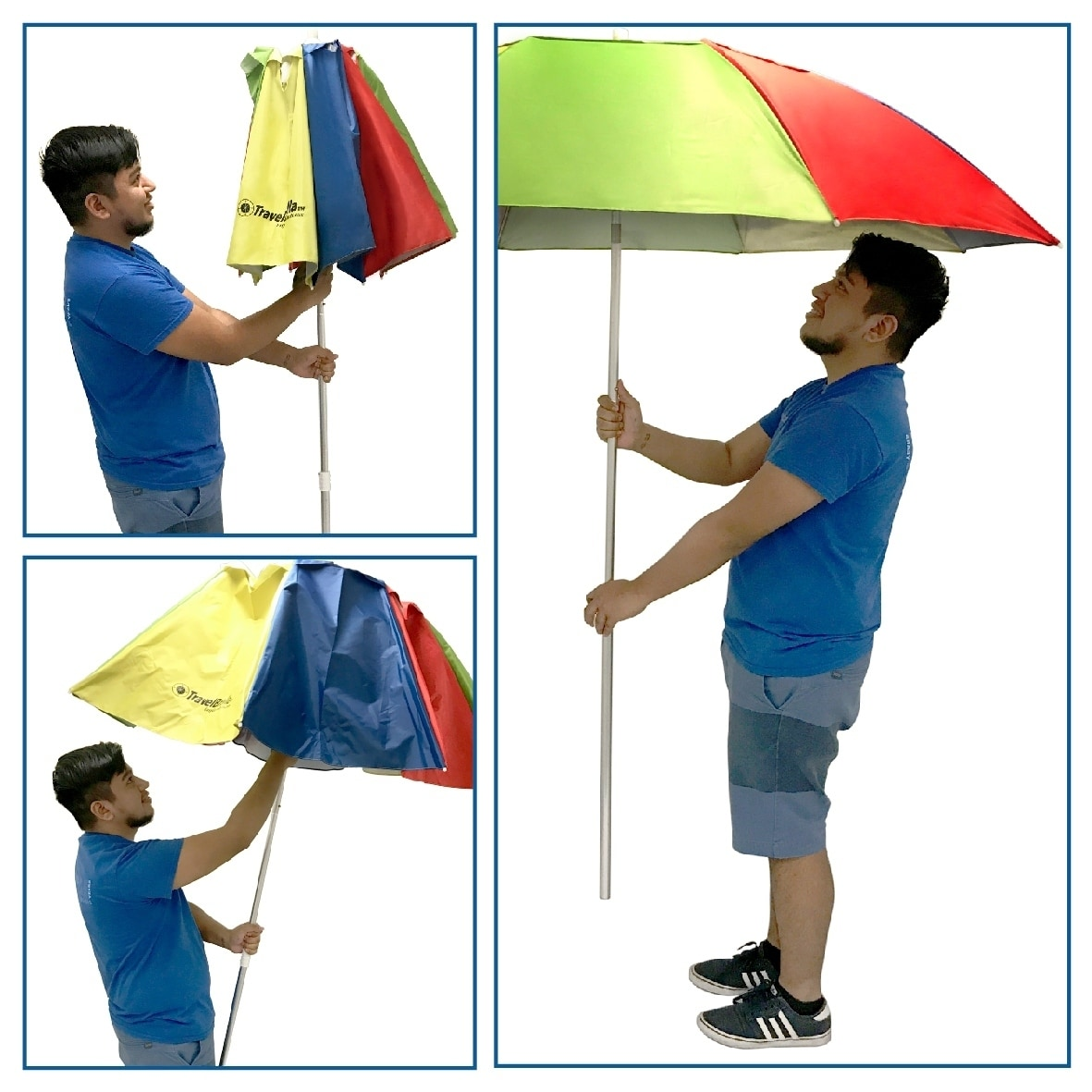 Travel Portable Beach Umbrella Compact Sun Fits In Your Suitcase Carry Bag Included Free Shipping On Orders Over 45