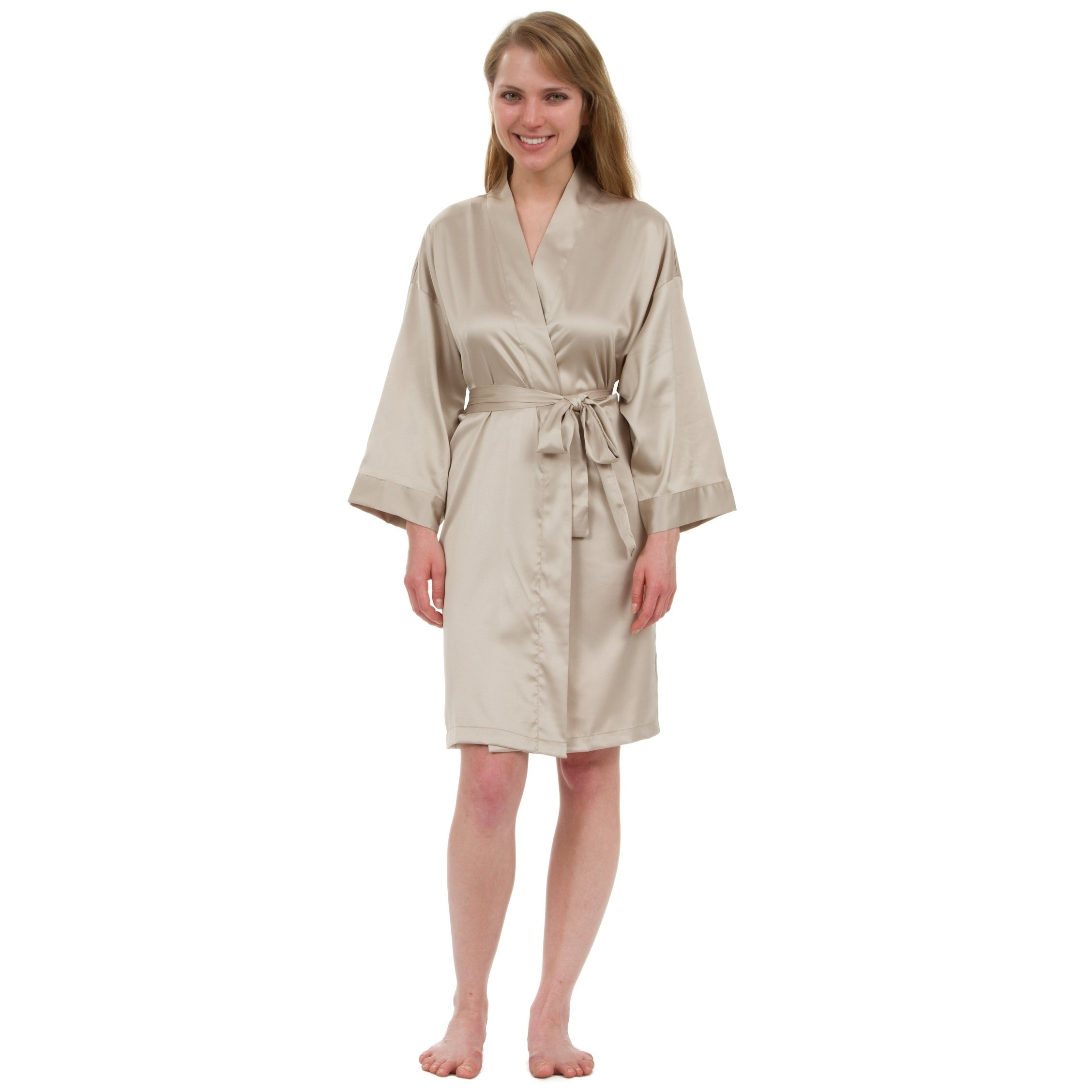 64a6629fc26 Shop Leisureland Women s Stretch Matte Satin Robe - On Sale - Free Shipping  On Orders Over  45 - Overstock - 18158038