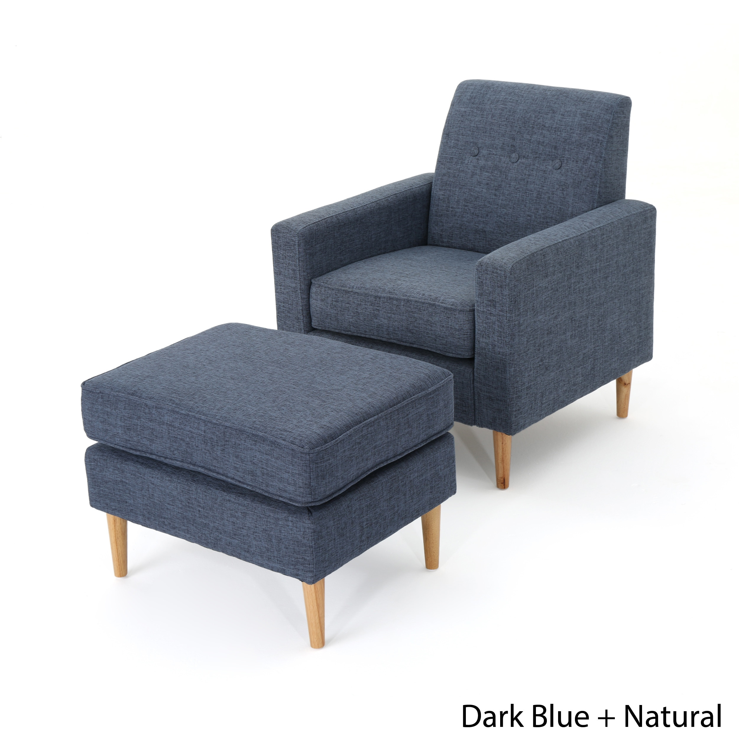 Shop sawyer mid century modern fabric club chair ottoman set by christopher knight home on sale free shipping today overstock com 18158872