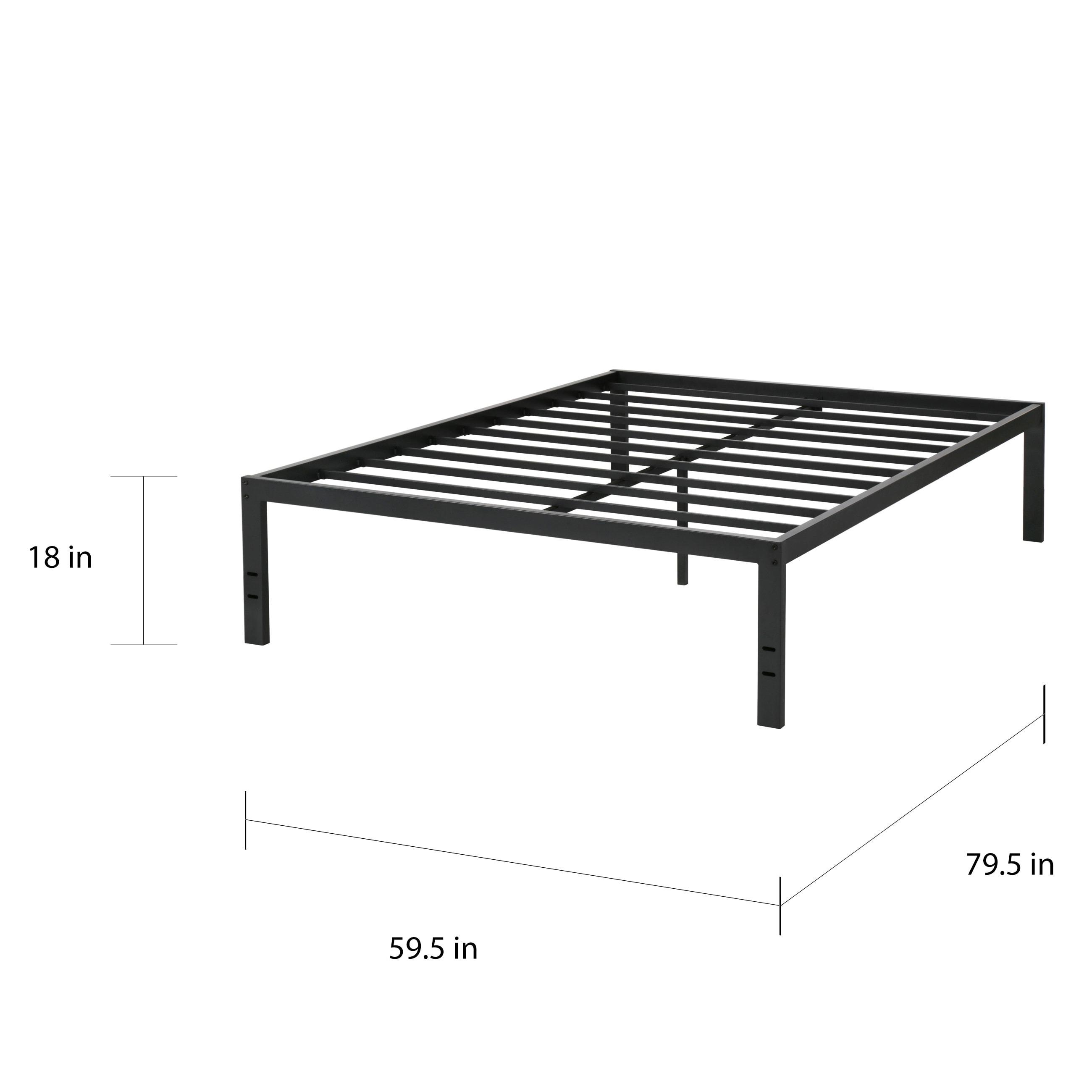 Shop Sleeplanner 18-inch Queen-Size Dura Metal Bed Frame OVS-3500 ...