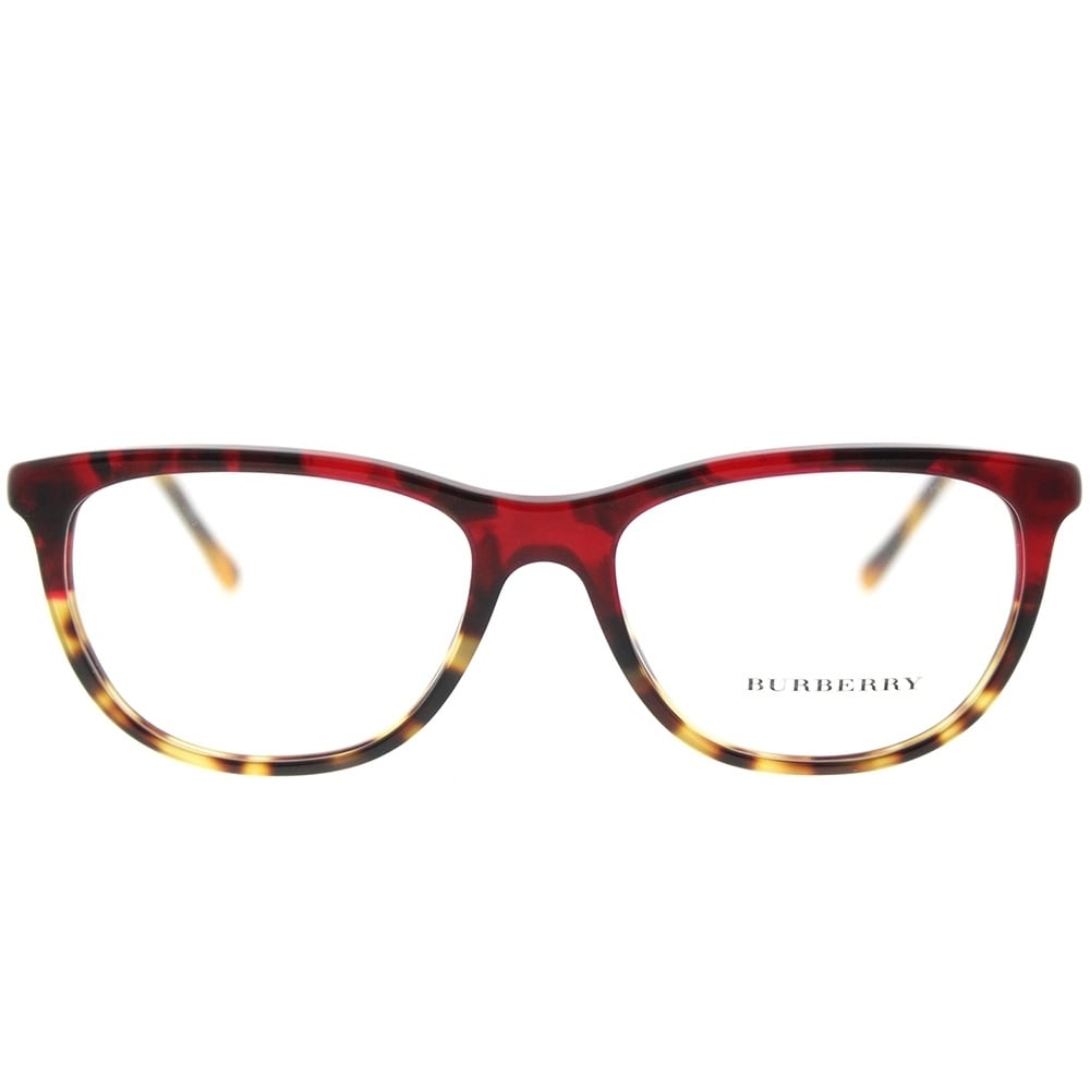 2a4c24d0750 Shop Burberry Cat-Eye BE 2189 3664 Womens Red Havana Blonde Havana Frame  Eyeglasses - Free Shipping Today - Overstock - 18159534