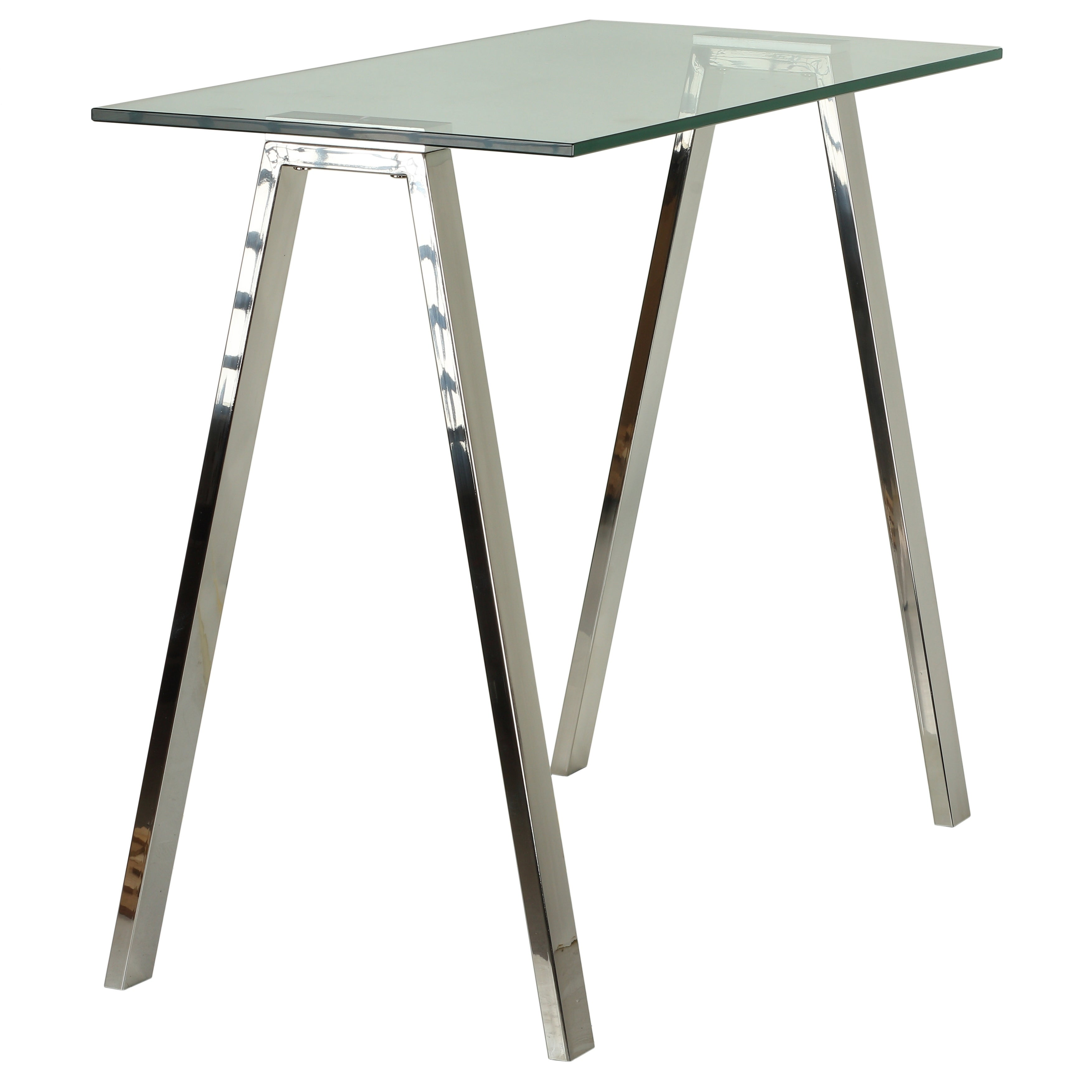Cortesi home trixie glass top desk console table with stainless cortesi home trixie glass top desk console table with stainless steel frame free shipping today overstock 24309642 gumiabroncs Image collections